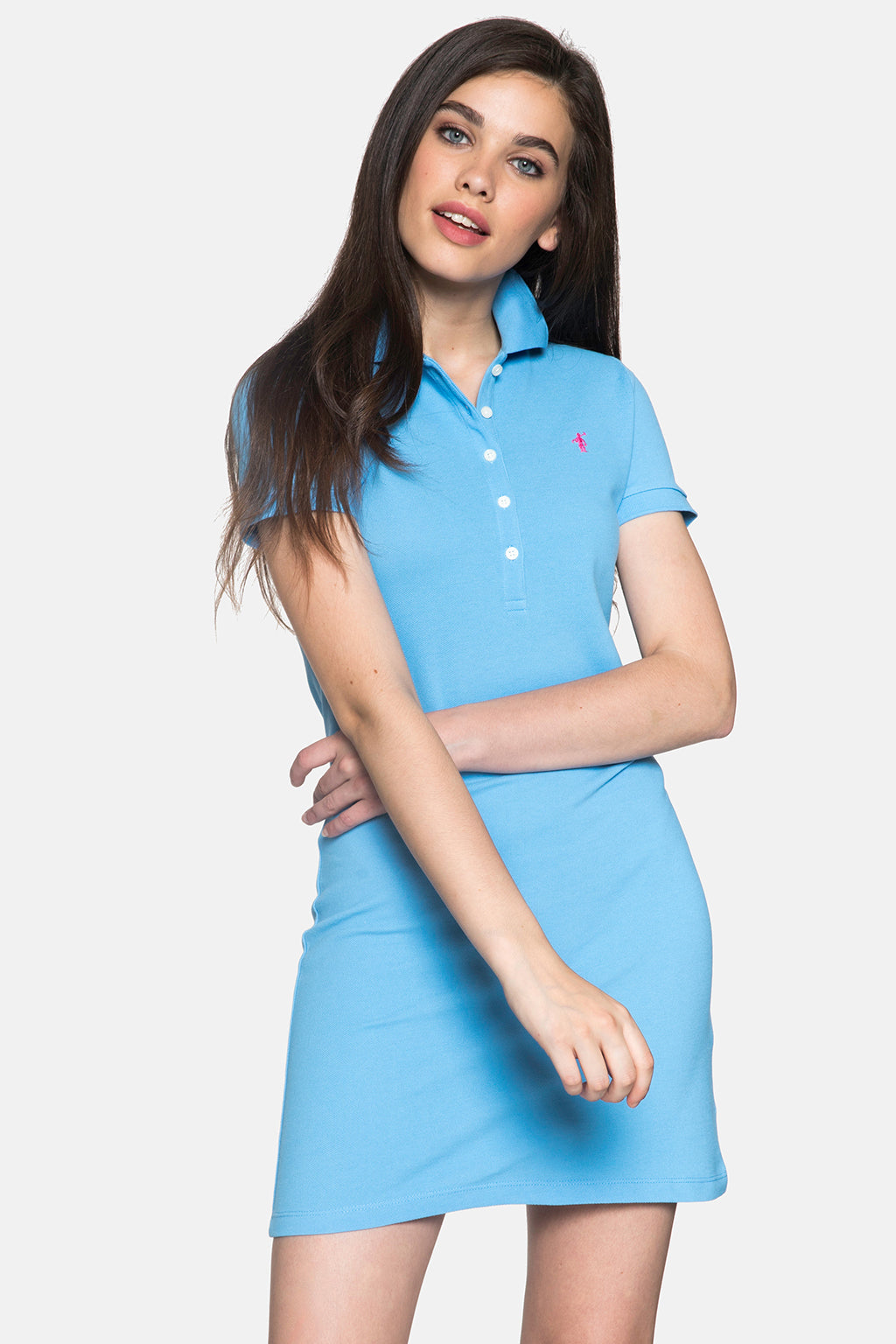 Blue polo dress
