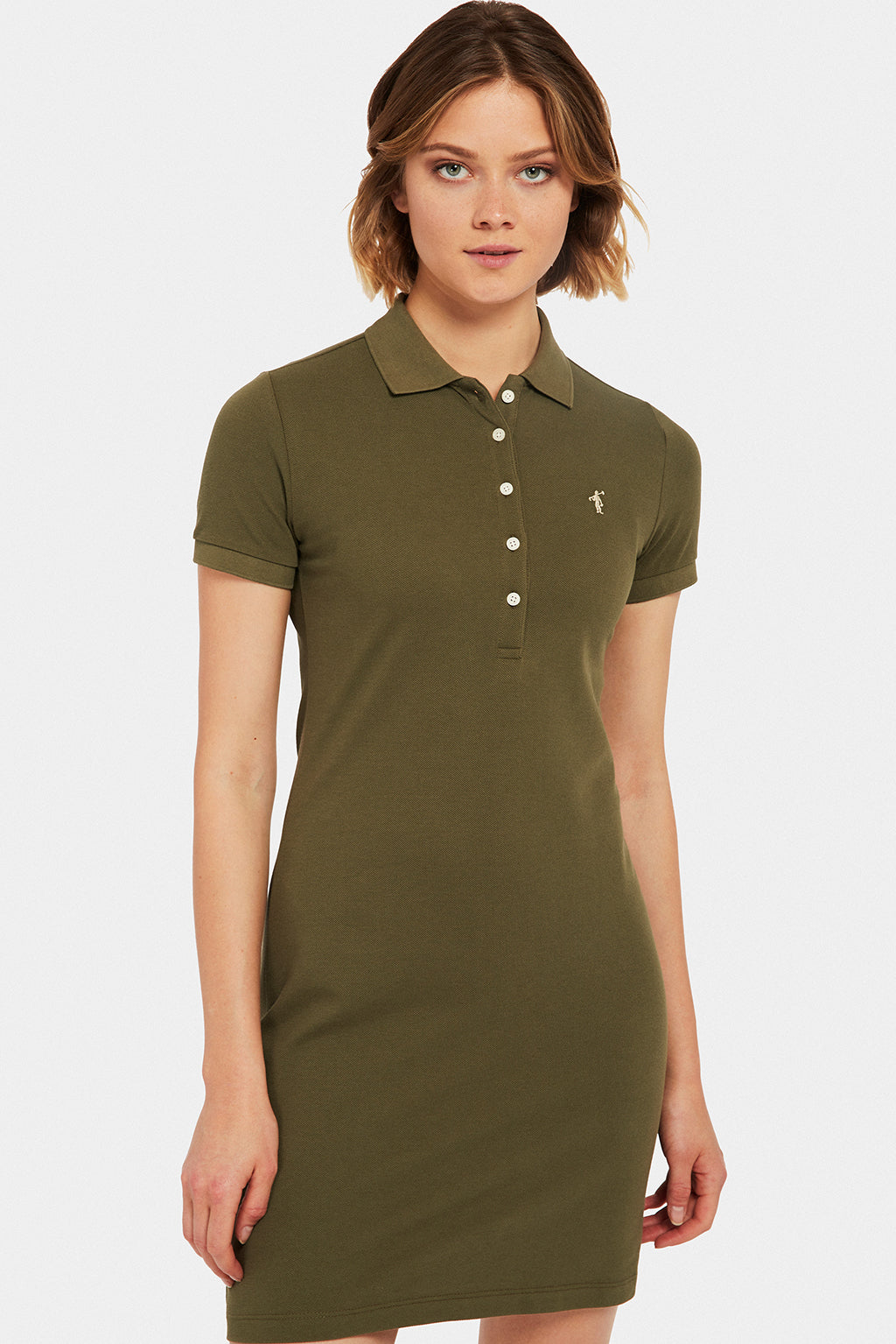 Khaki polo dress