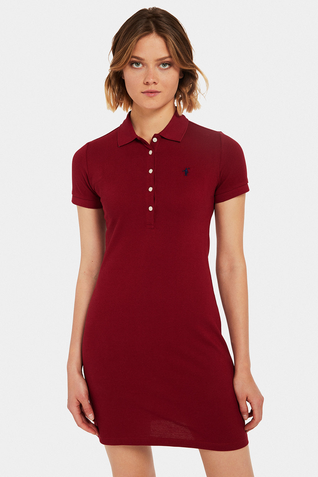 Red polo dress
