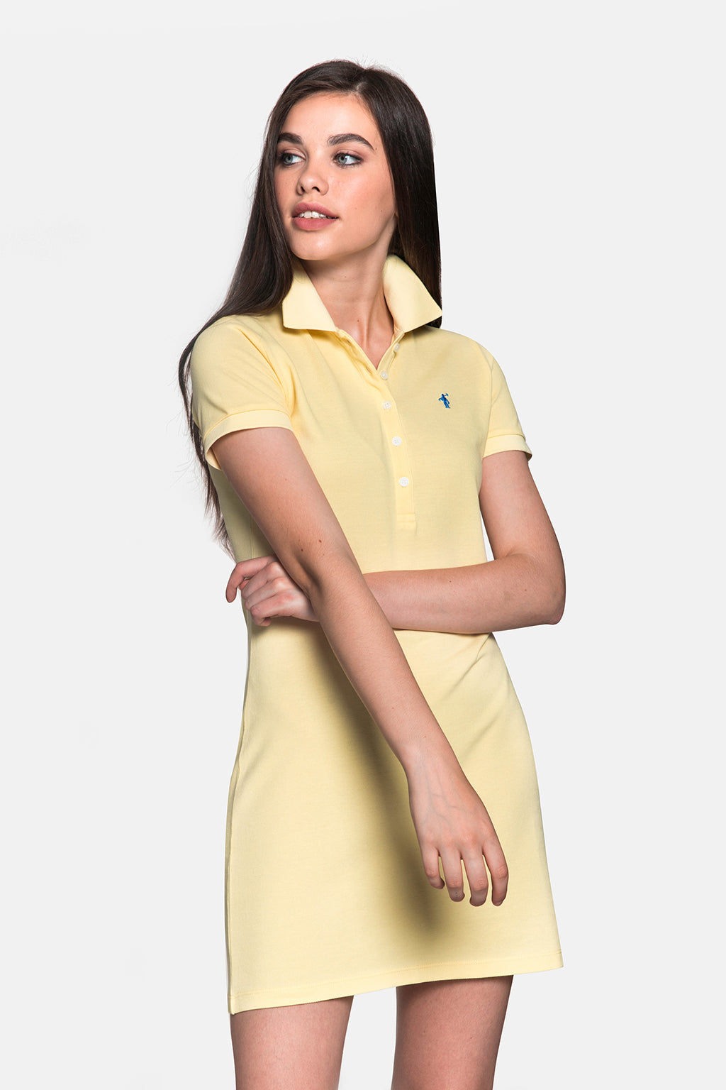 Yellow polo dress