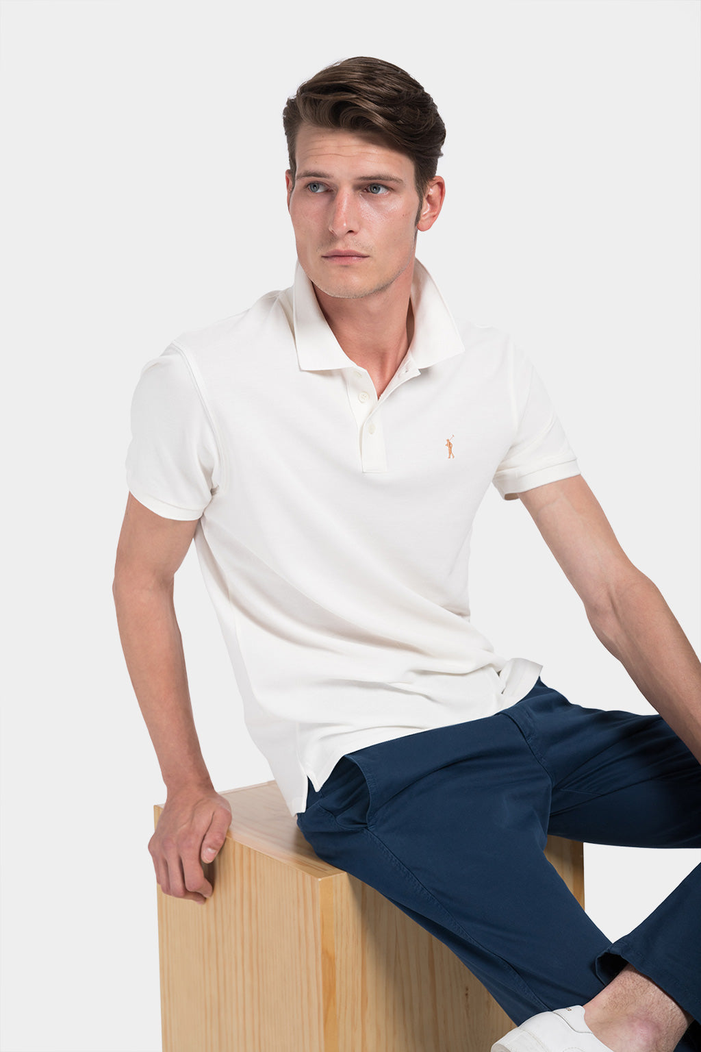 Nude custom fit polo shirt