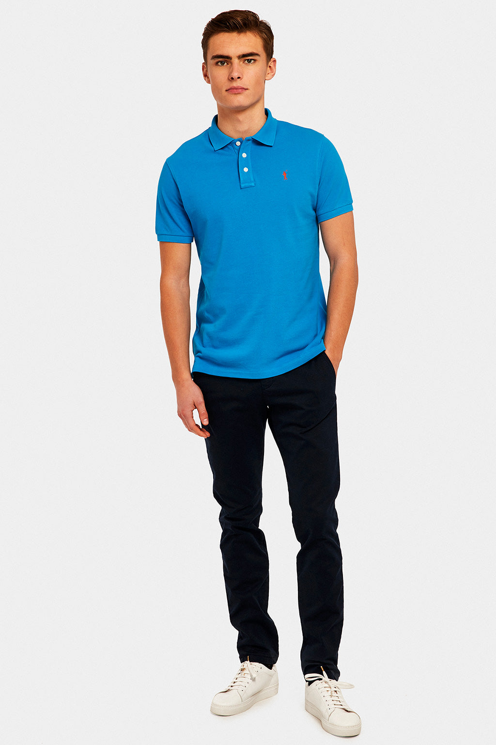 Poloshirt blau Custom fit