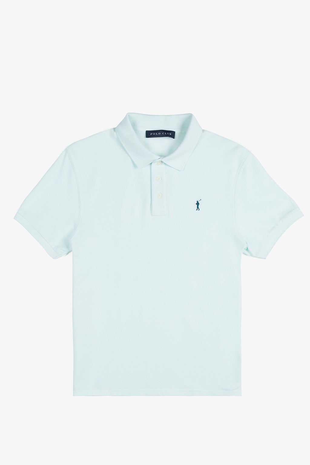 Polo verde menta custom fit