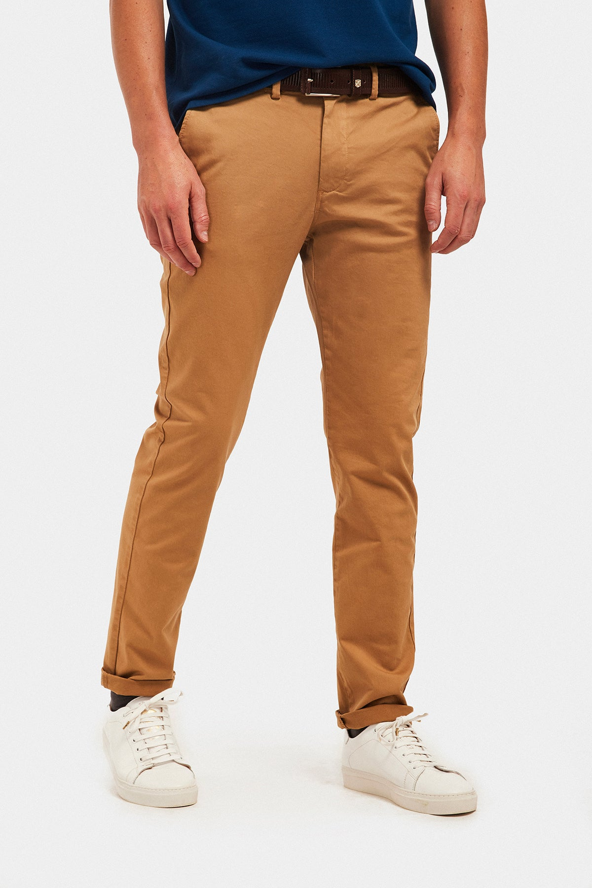 Pantalón Custom Fit Camel