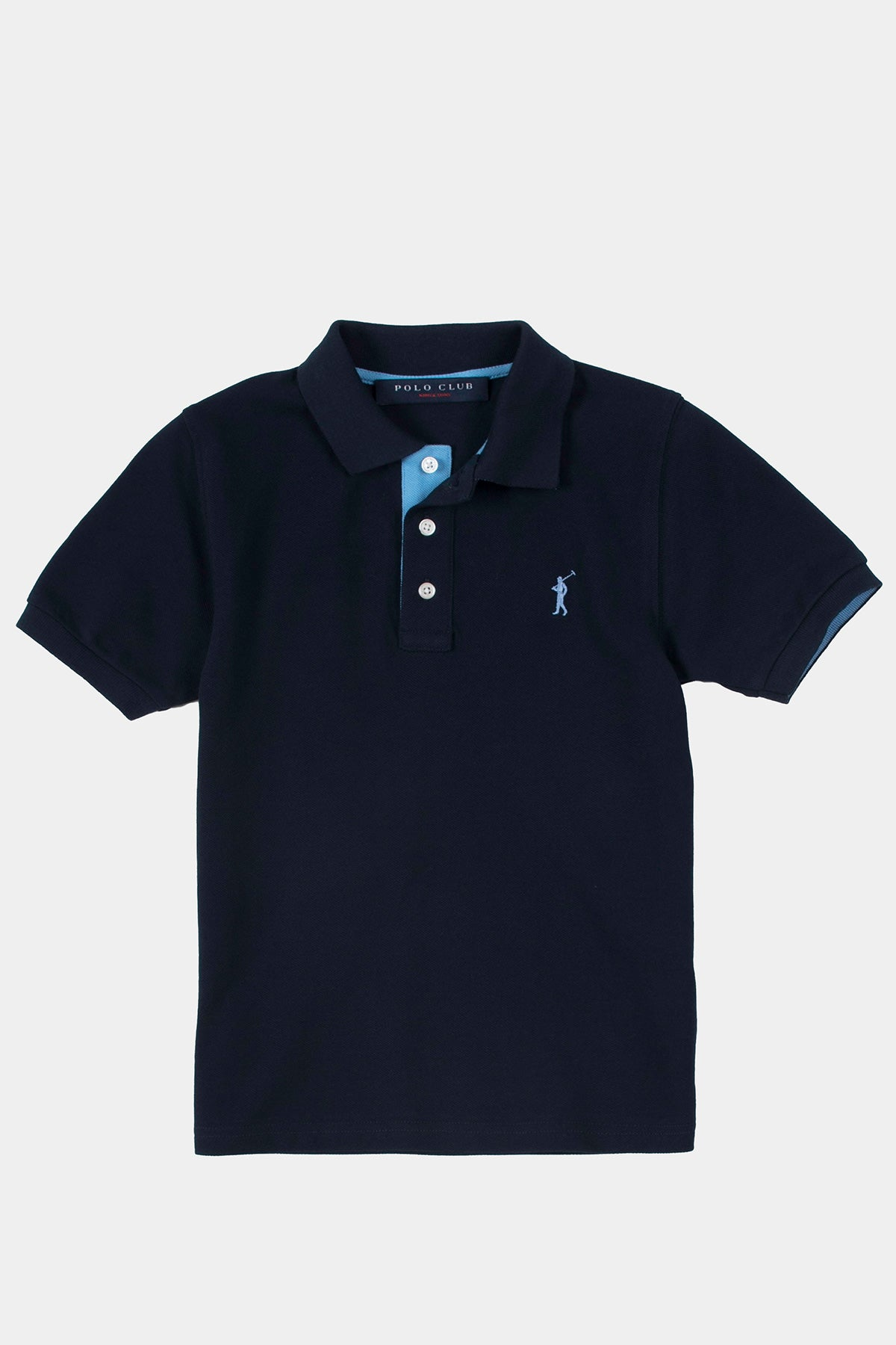 Boy's polo shirt navy blue