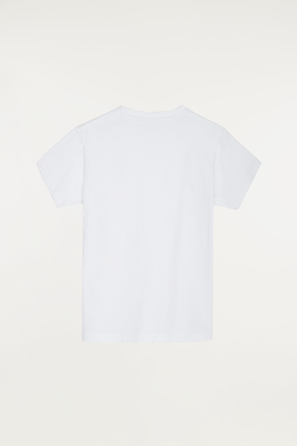 White T-shirt with bi-coloured print