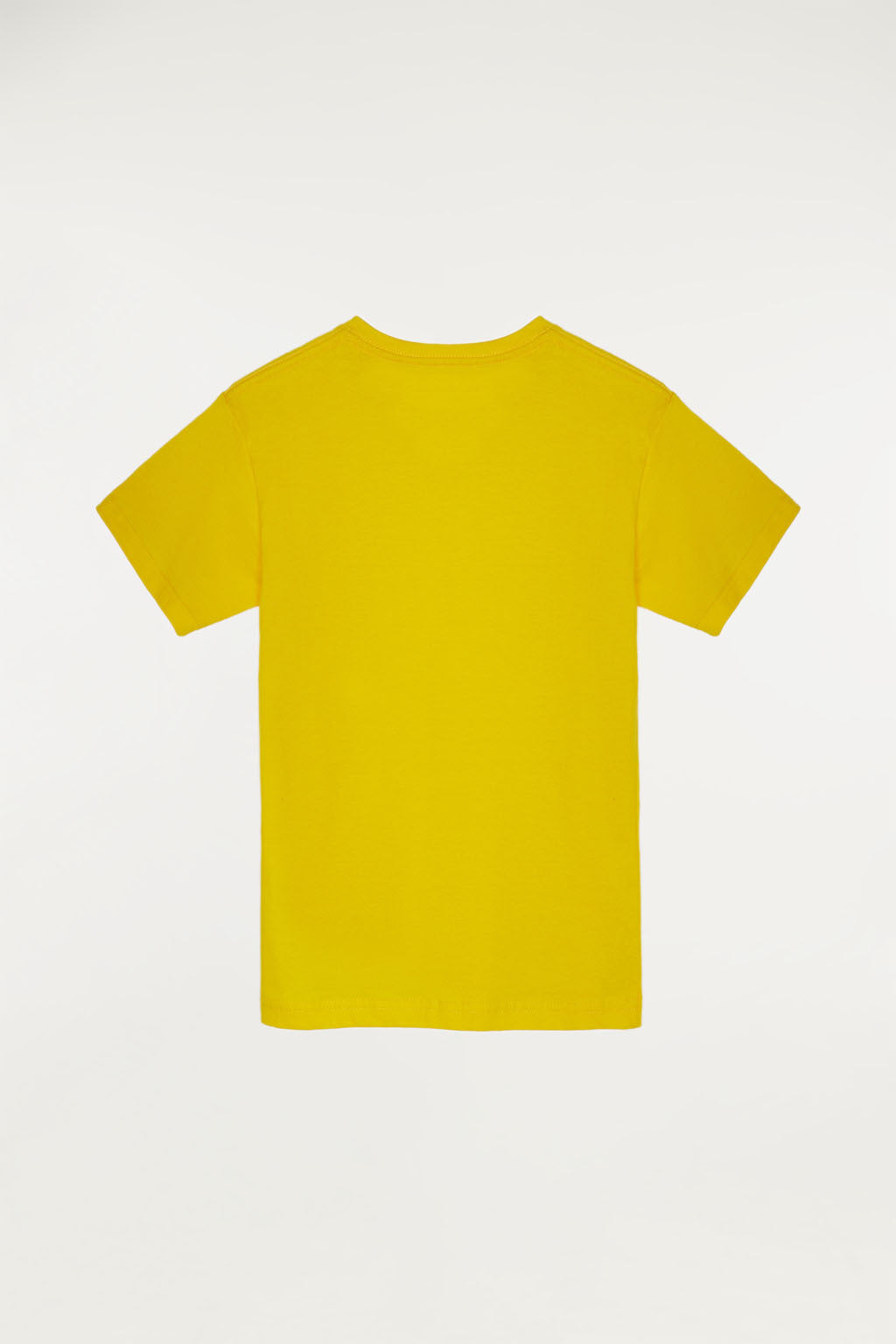 Yellow T-shirt with bi-coloured print