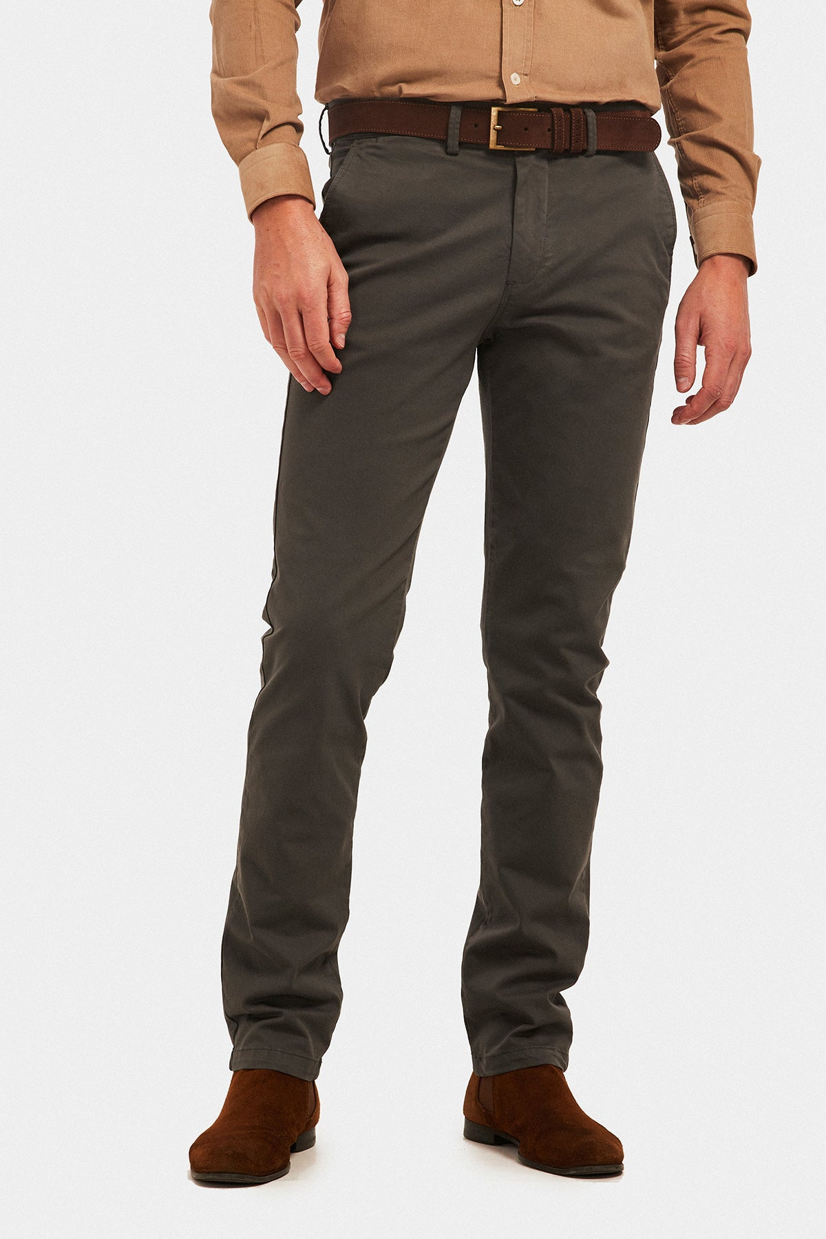 Pantalón Custom Fit Gris