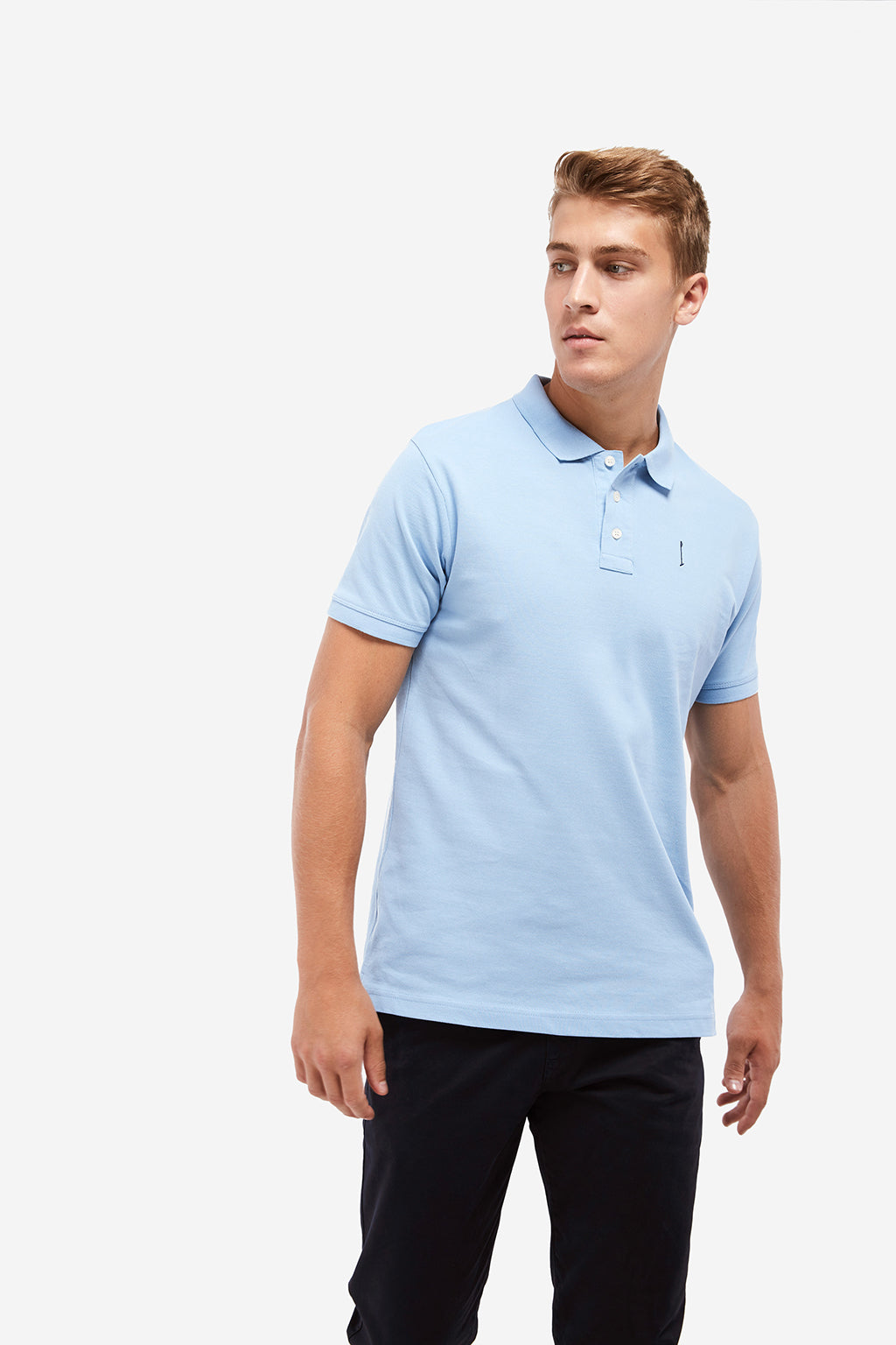 Sky blue Knot polo shirt