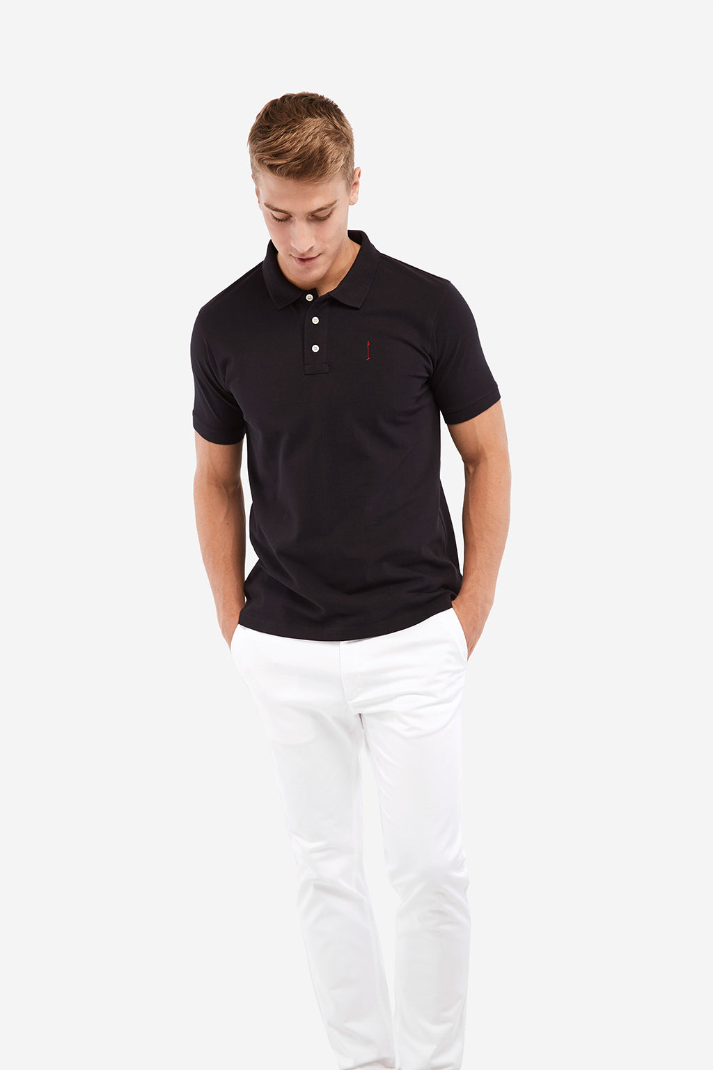 Navy blue Knot polo shirt
