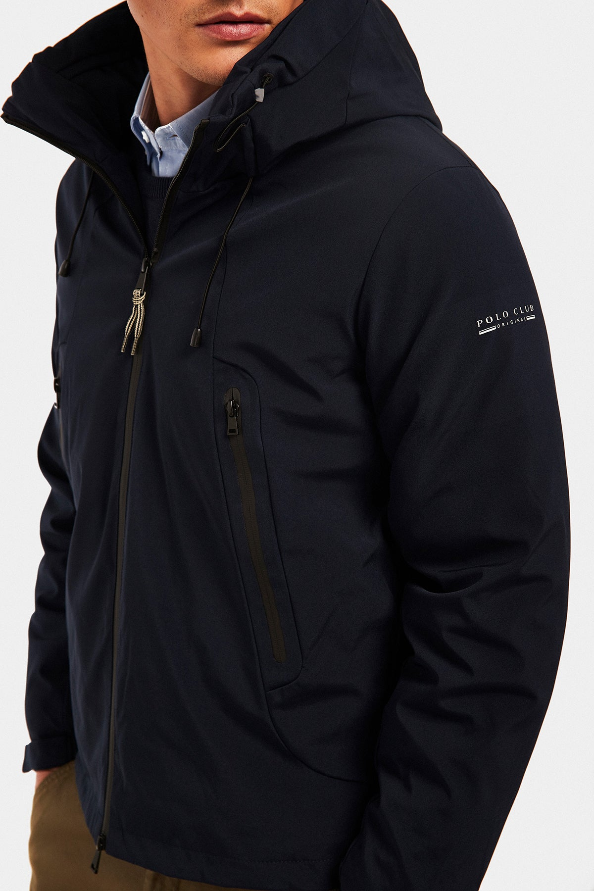 Tech-Jacke wasserdicht navy