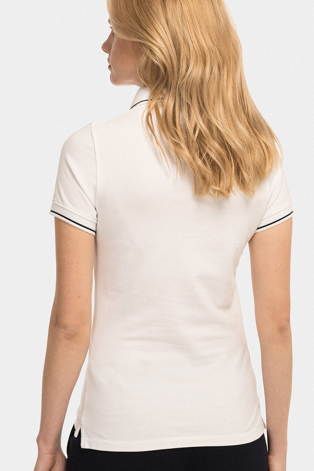 White polo shirt with contrast trims
