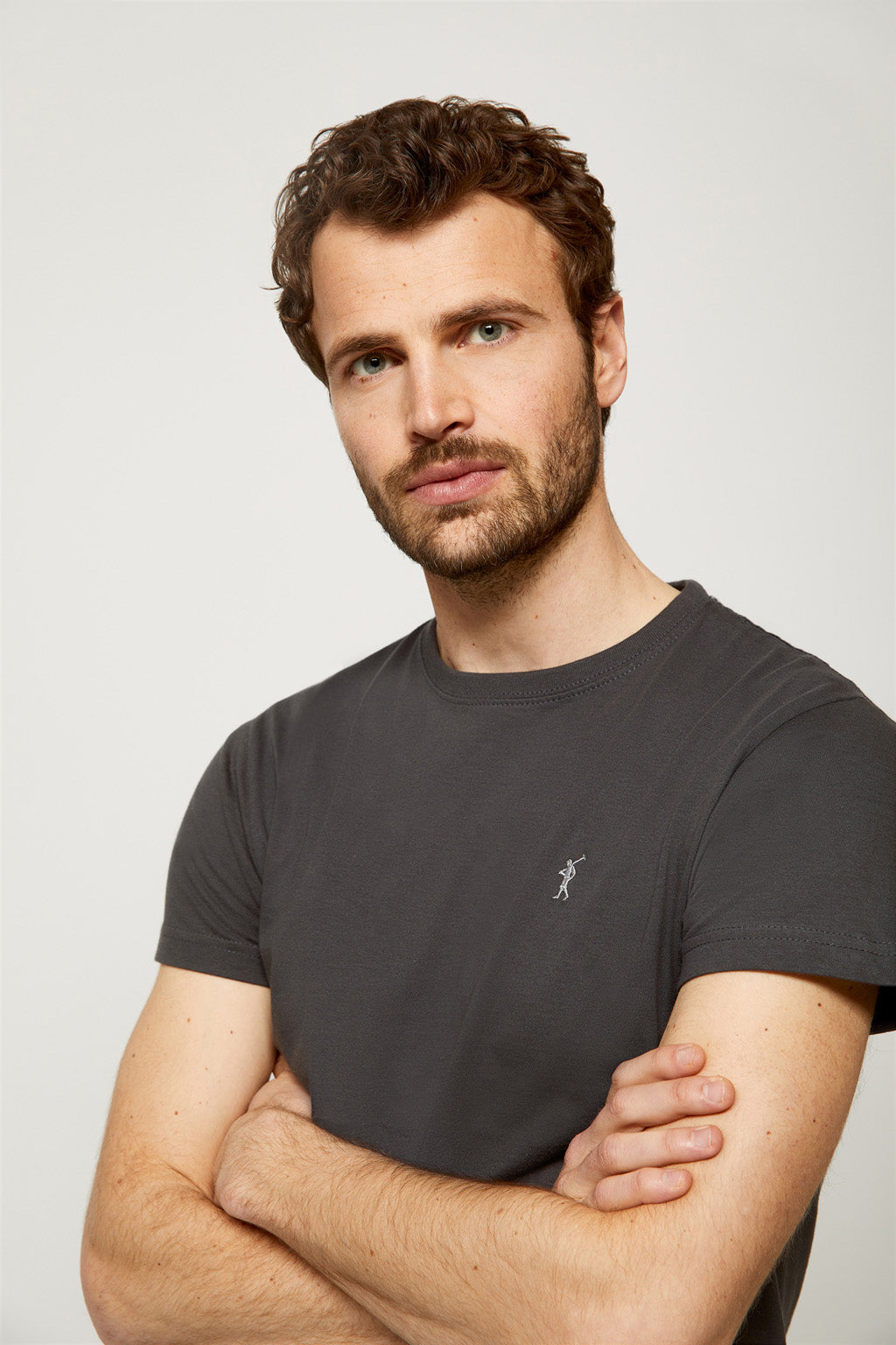 Ebony tee with embroidered logo