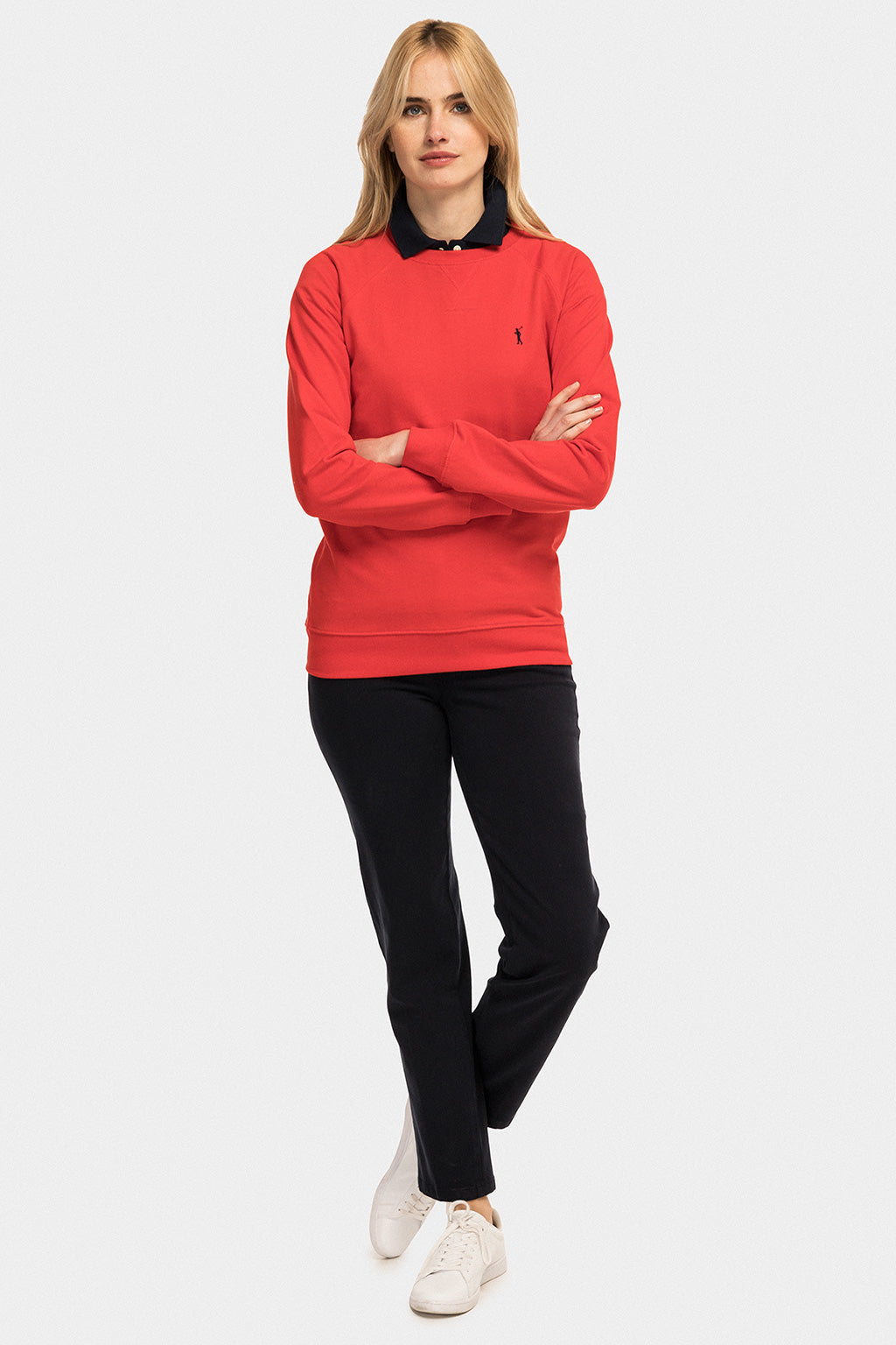 Red round neck sweatshirt