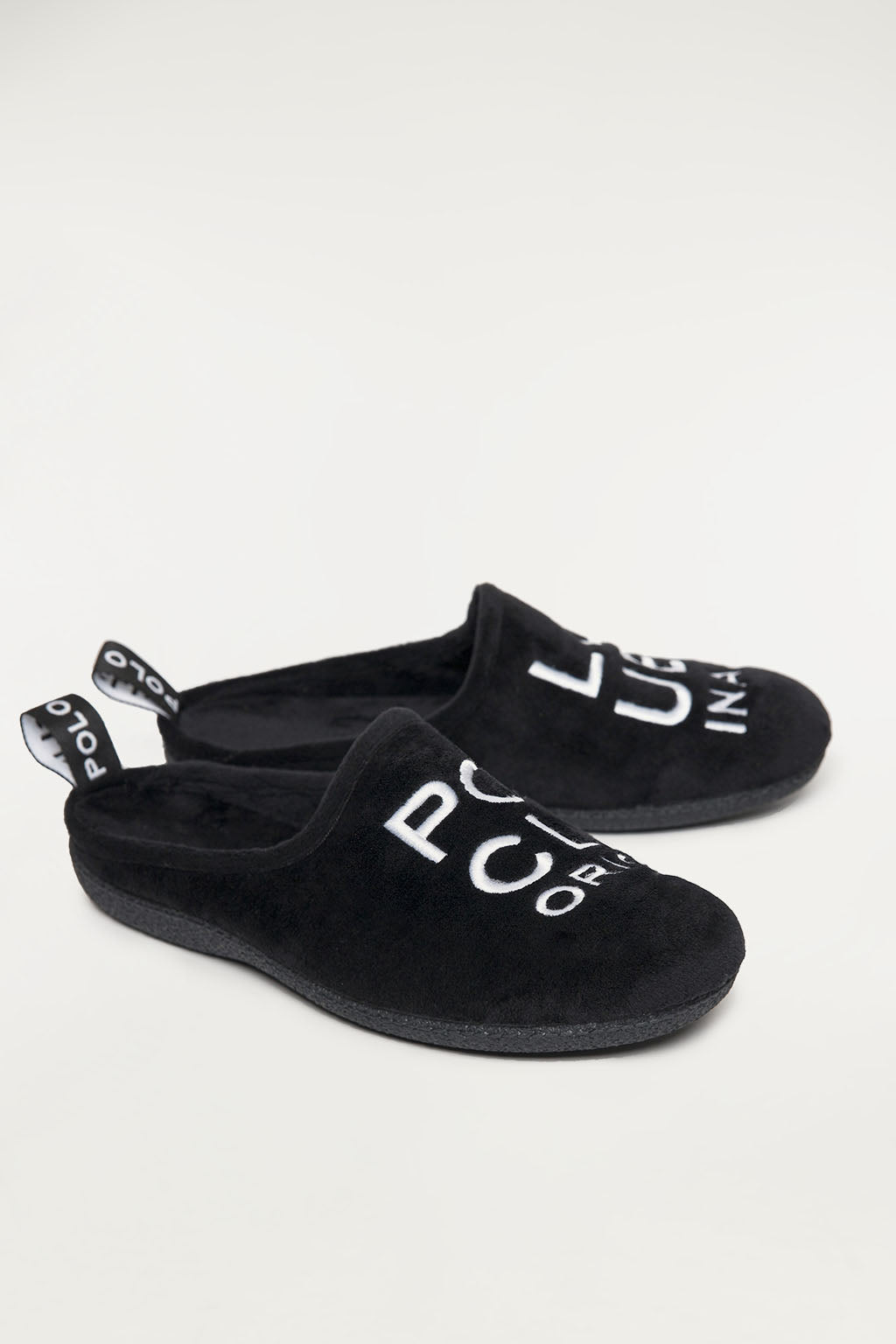 Black sleepers with big embroidery