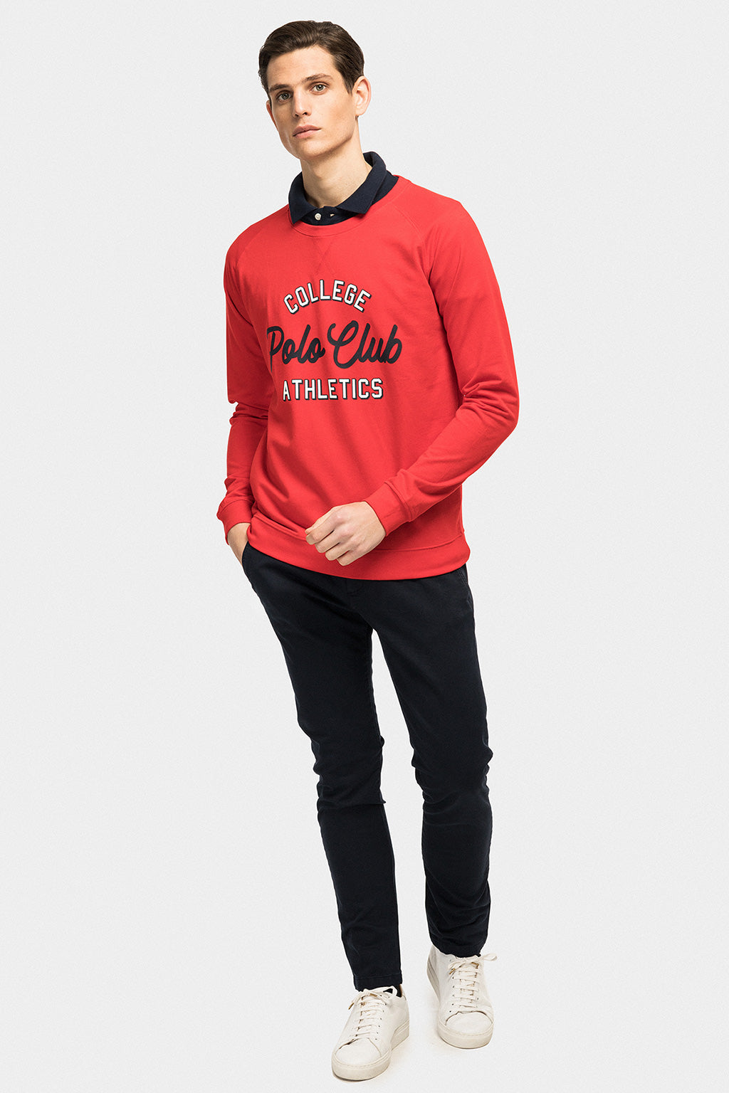Red sweatshirt with front print