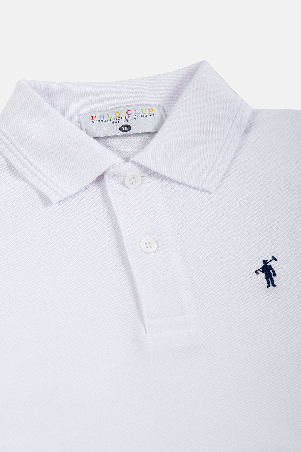 Polo de manga larga blanco con bordado