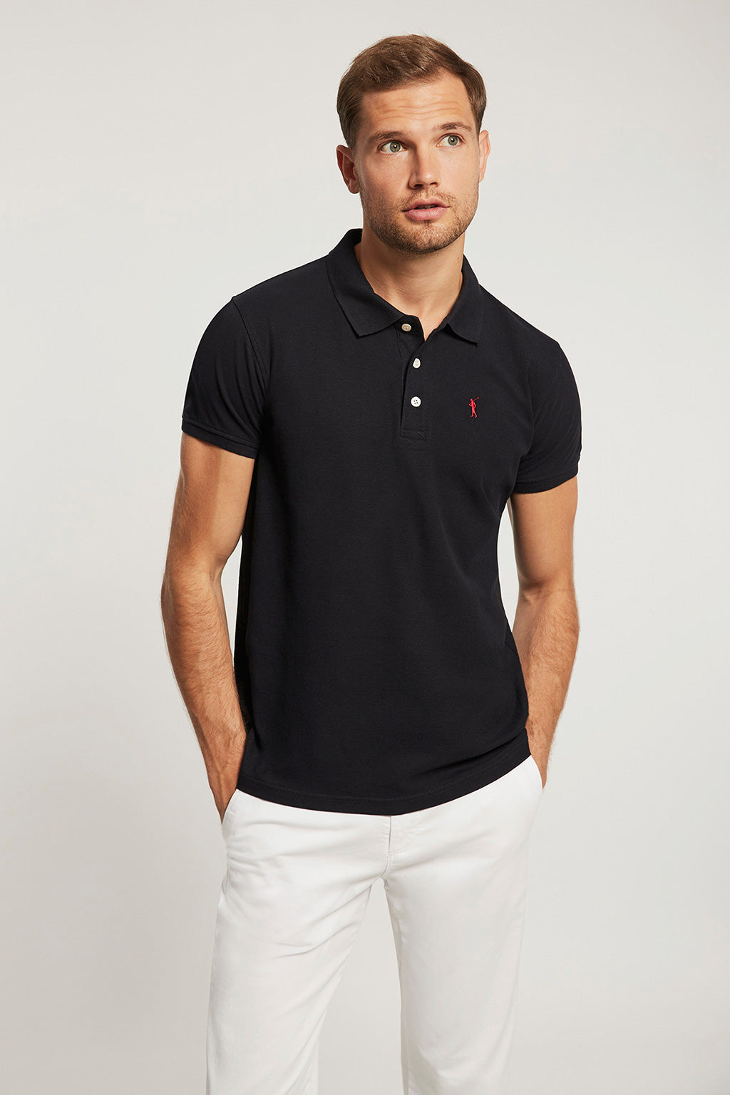 Polo piquet  blu