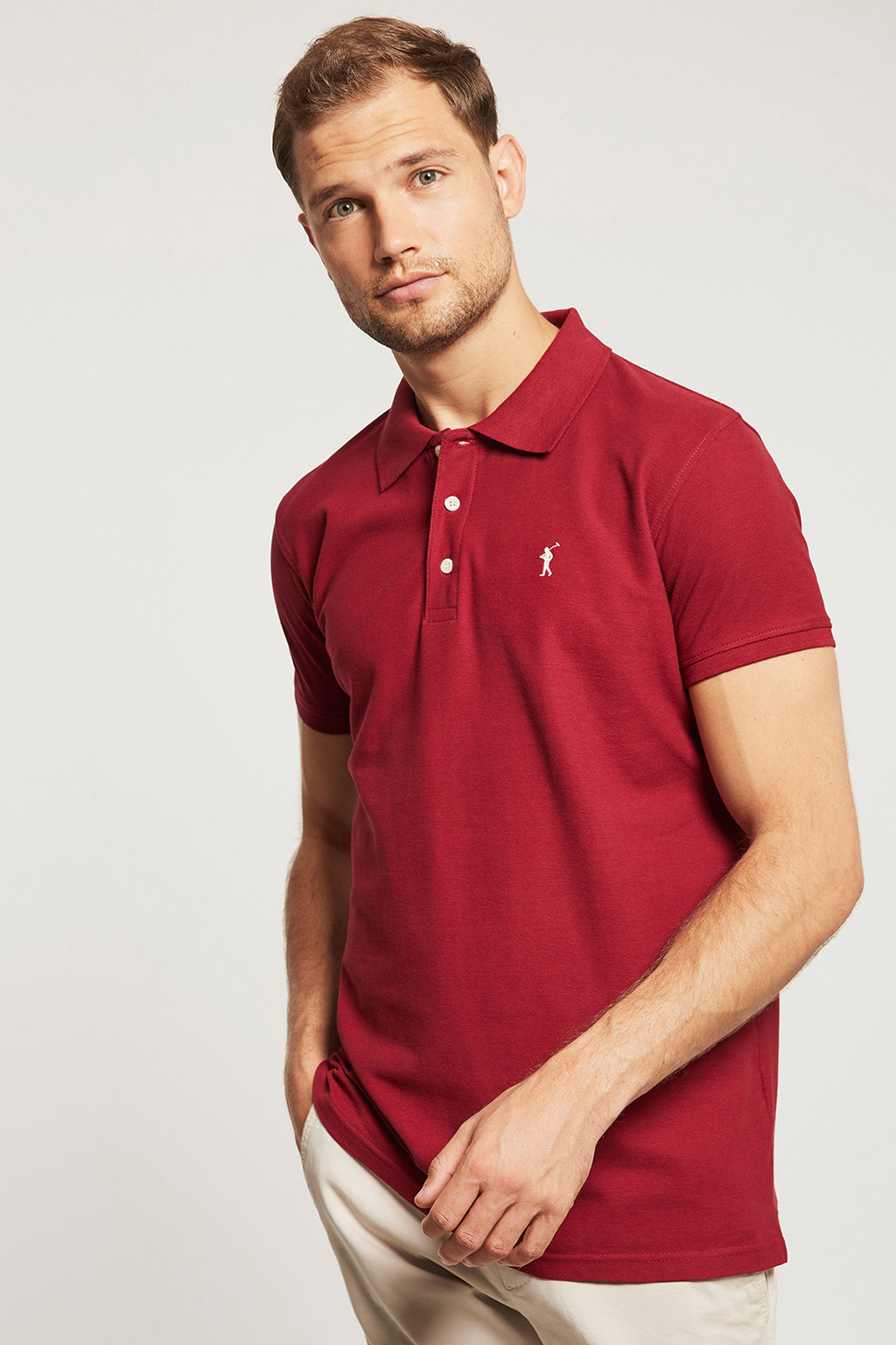 Polo piquet bordeaux