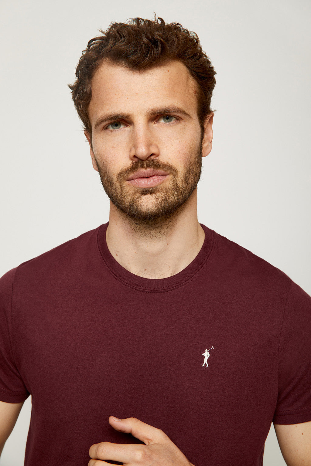 White/burgundy/black tee pack
