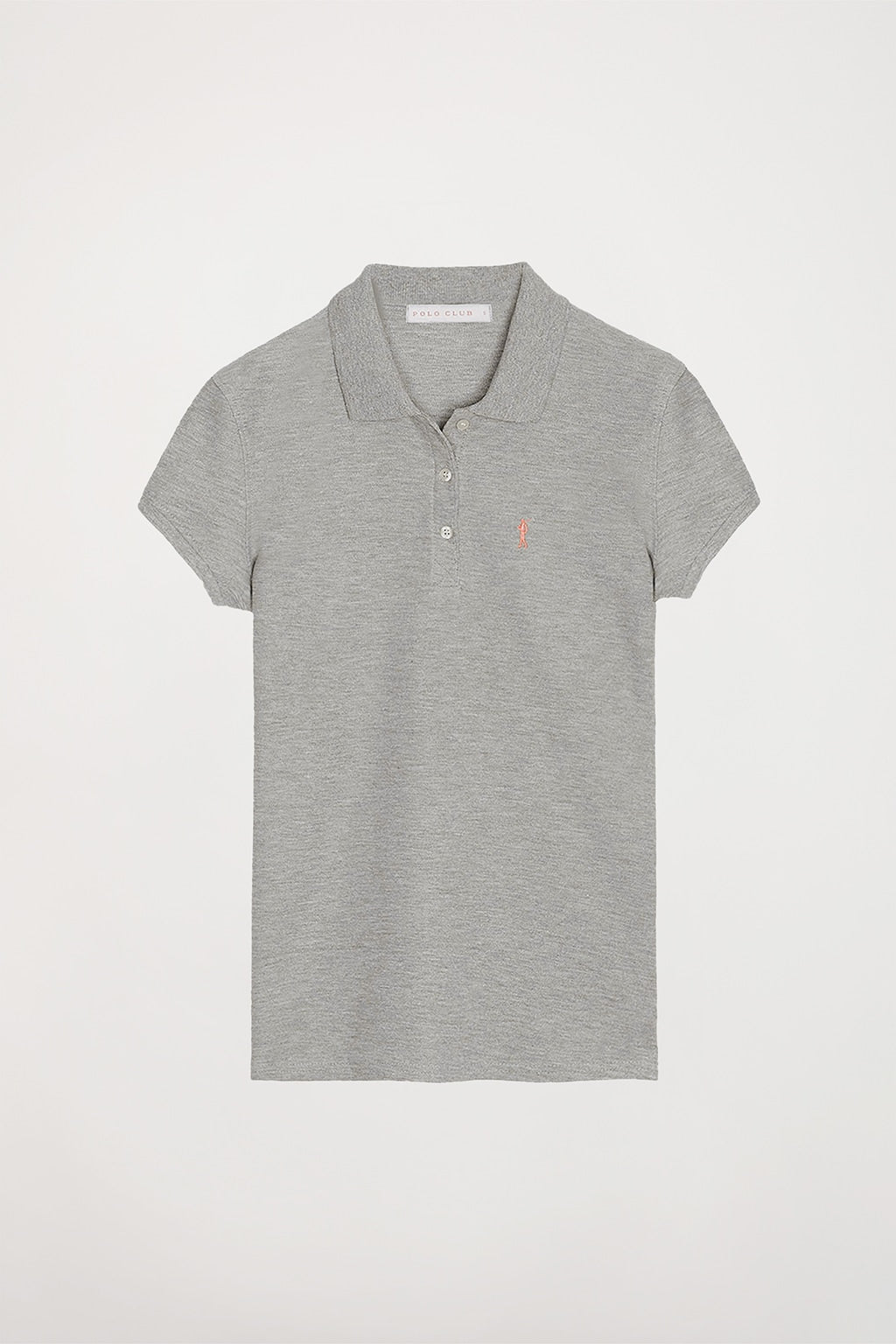 Polo gris vigoré con logo bordado