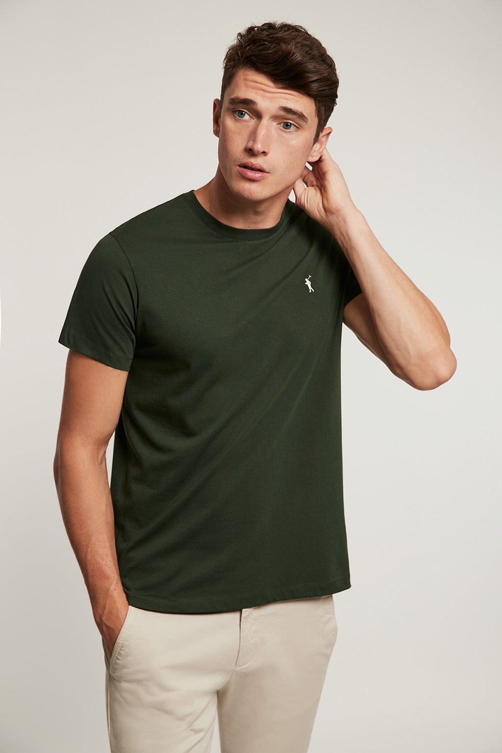 Forest green organic tee