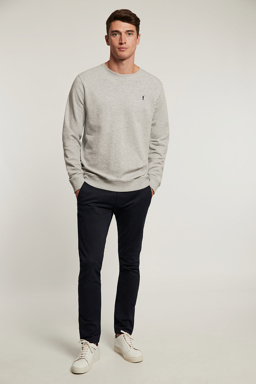 Grey vigore round neck organic sweatshirt