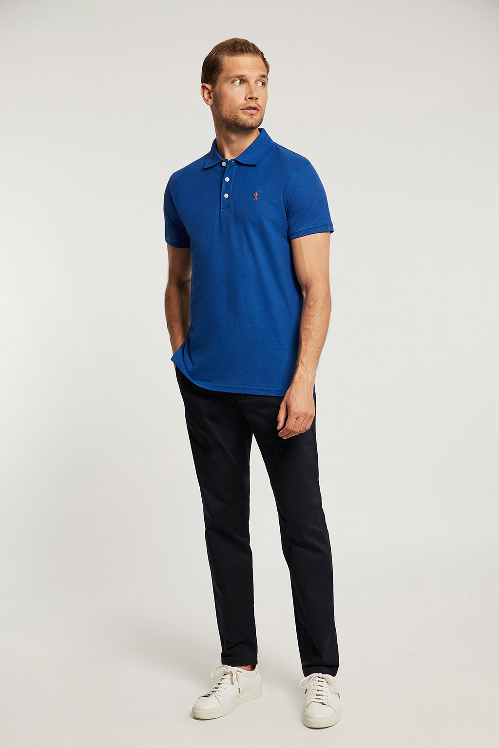 Polo piqué azul royal