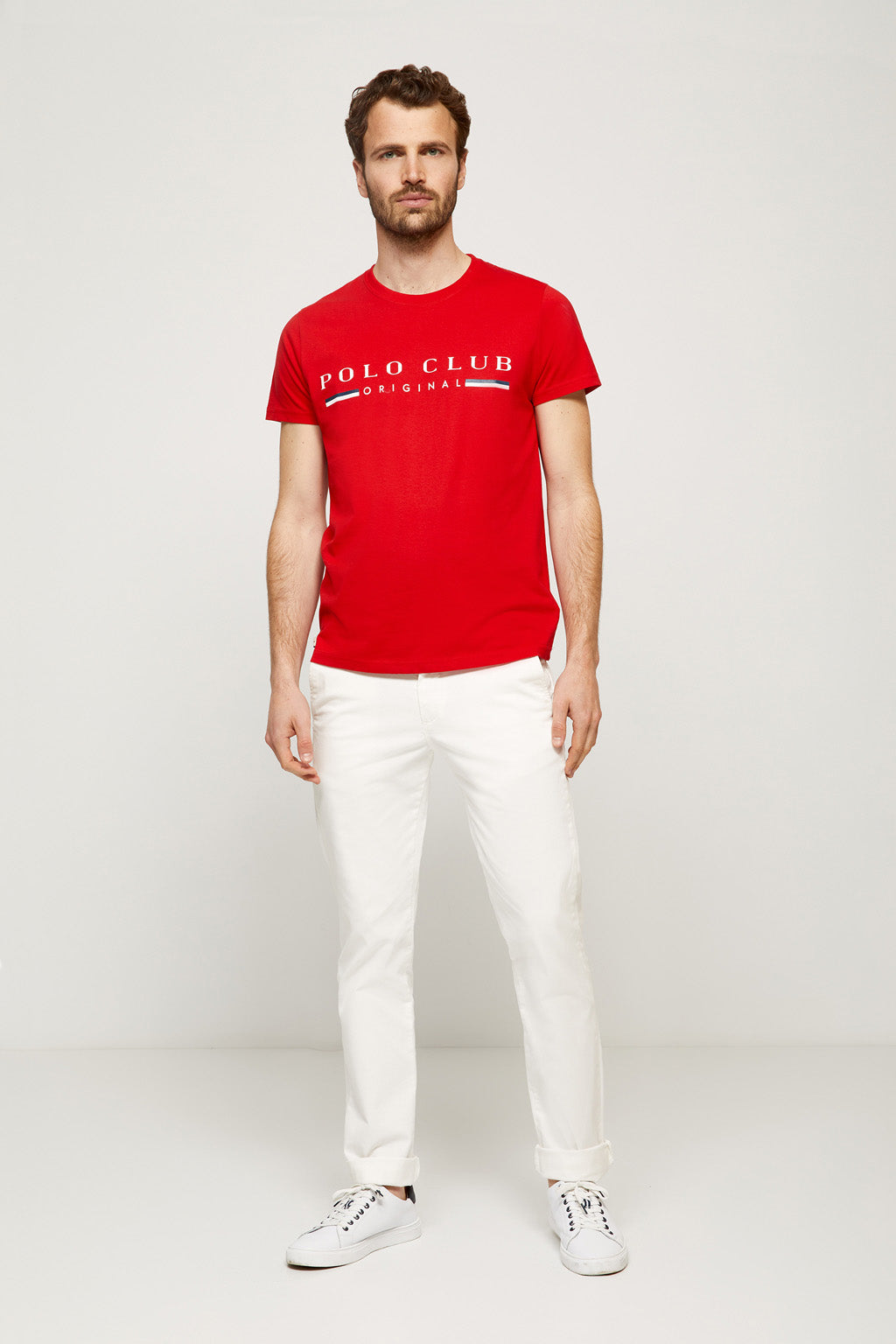 Red iconic tee