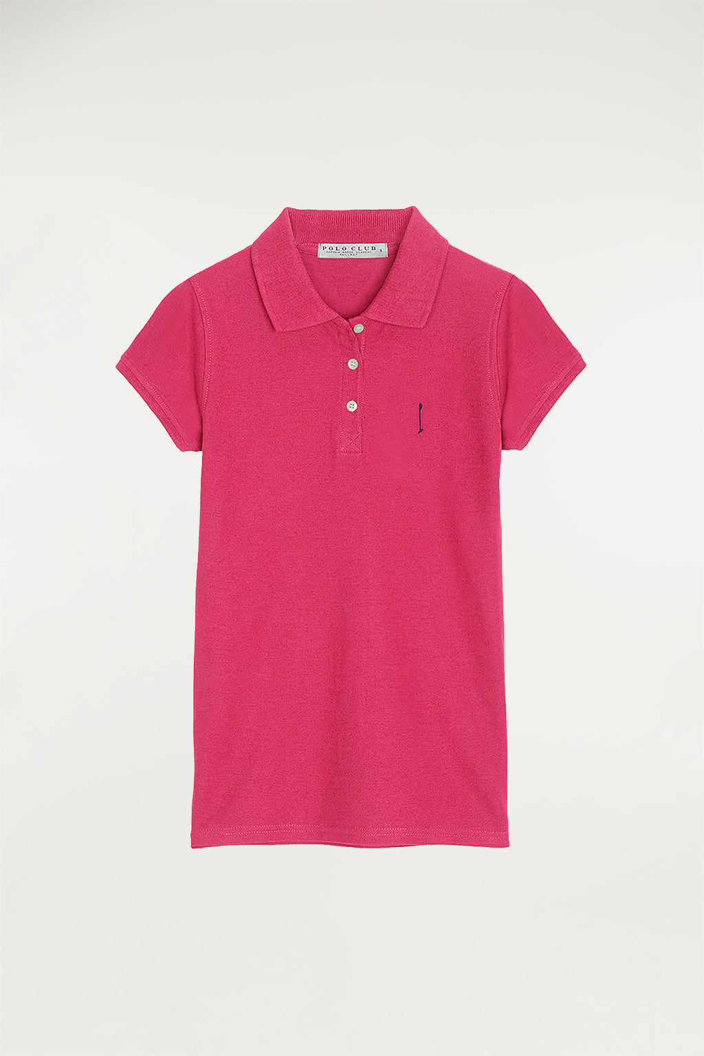 Poloshirt fuchsiapink mit Stickerei Custom fit