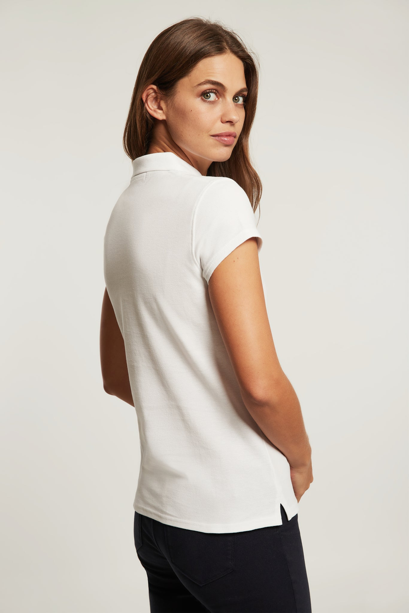 White polo shirt with embroidery