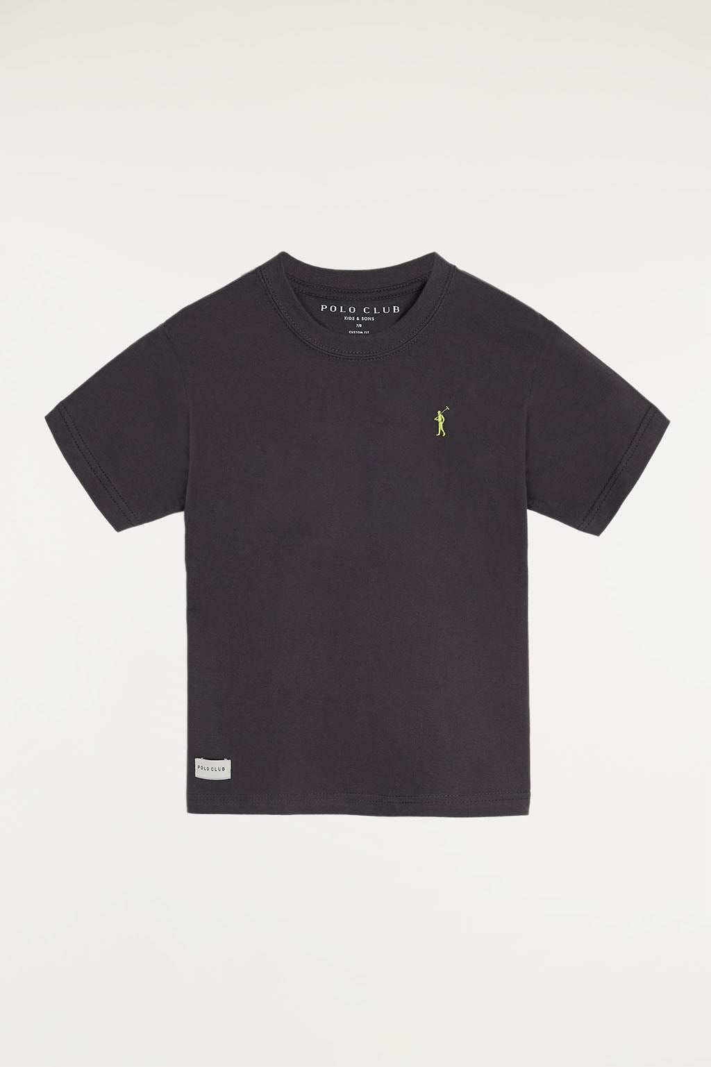 Grey tee with small embroidered logo