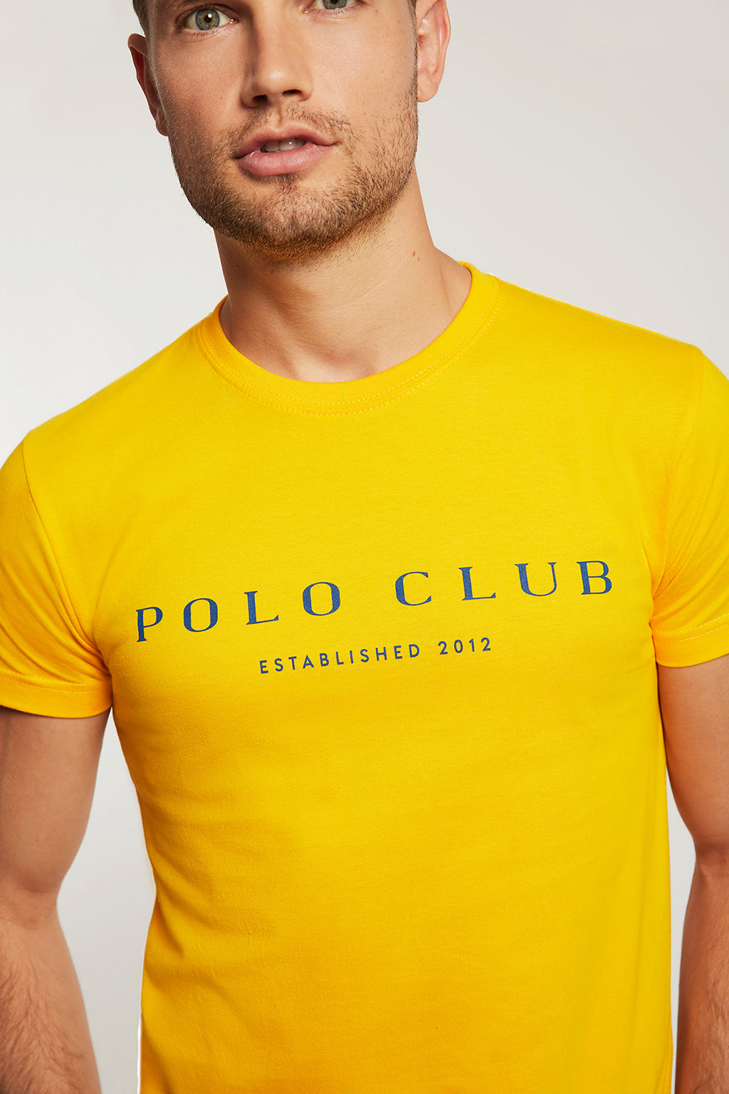 Printed yellow tee