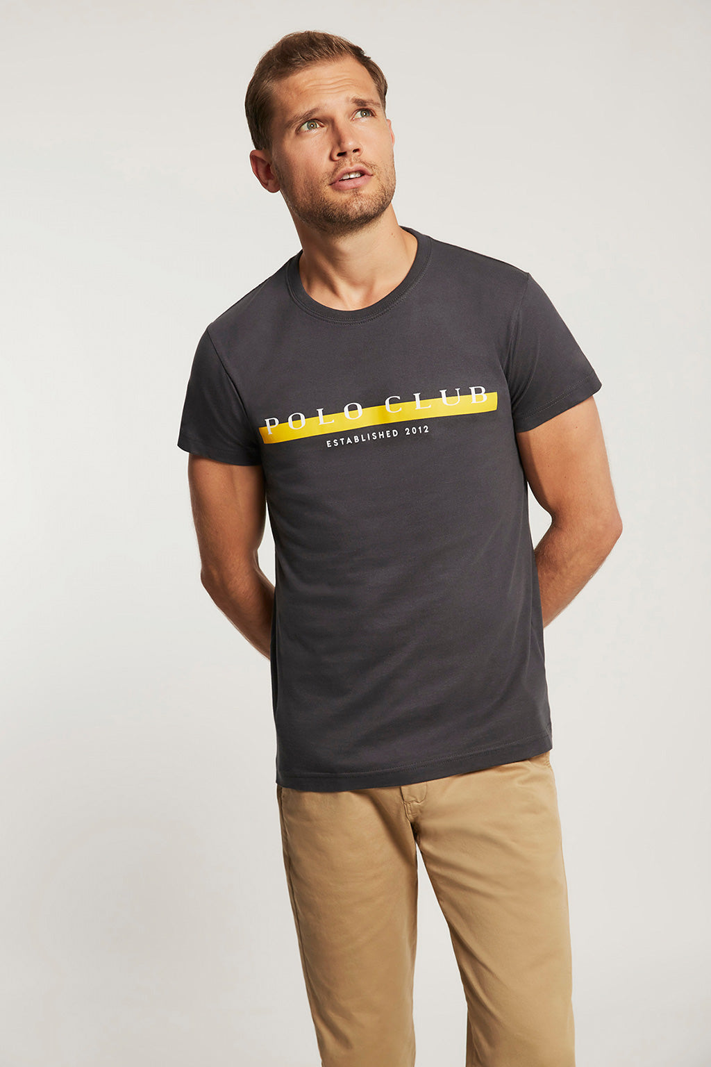 Ebony T-shirt with bi-coloured print
