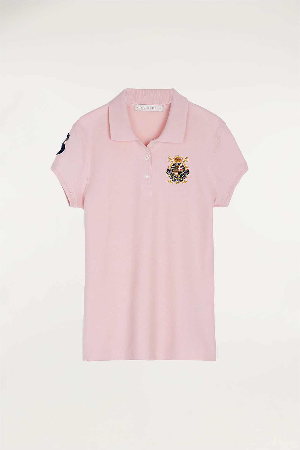 Polo marinero rosa con parche bordado