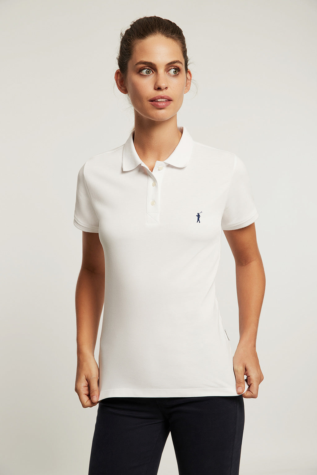 White organic cotton polo shirt