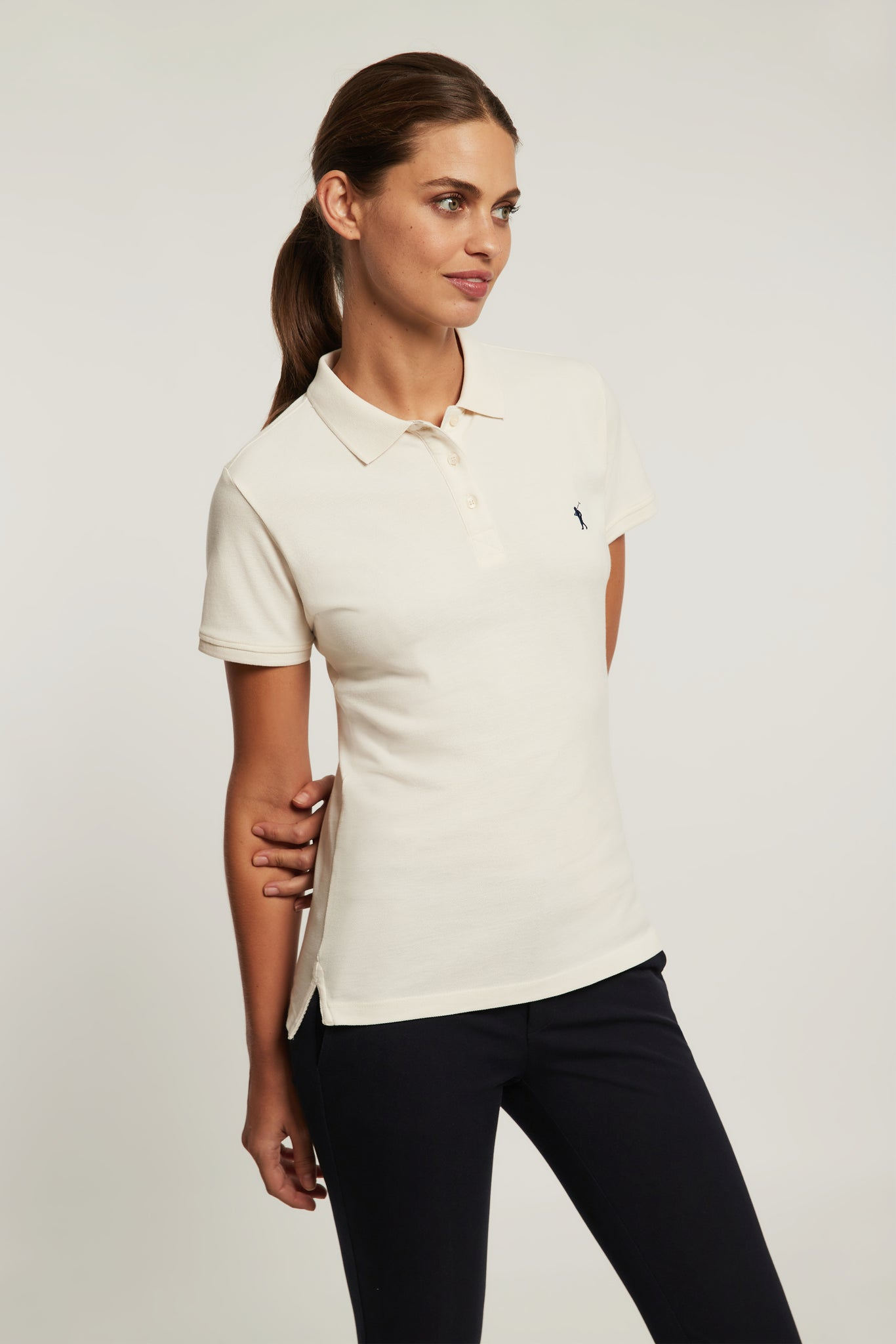Sand organic cotton polo shirt