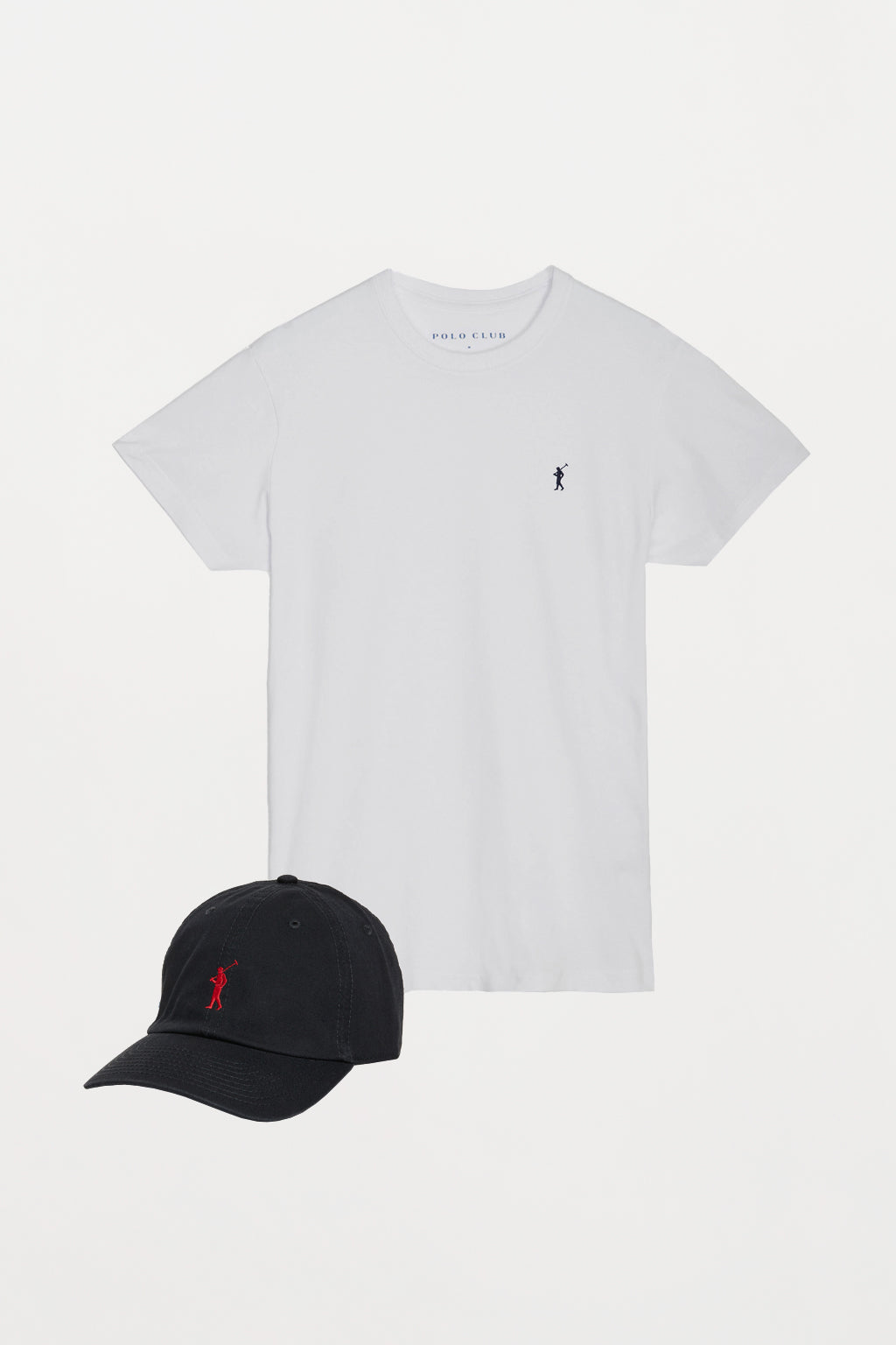 Polo shirt and cap with embroidered logo pack