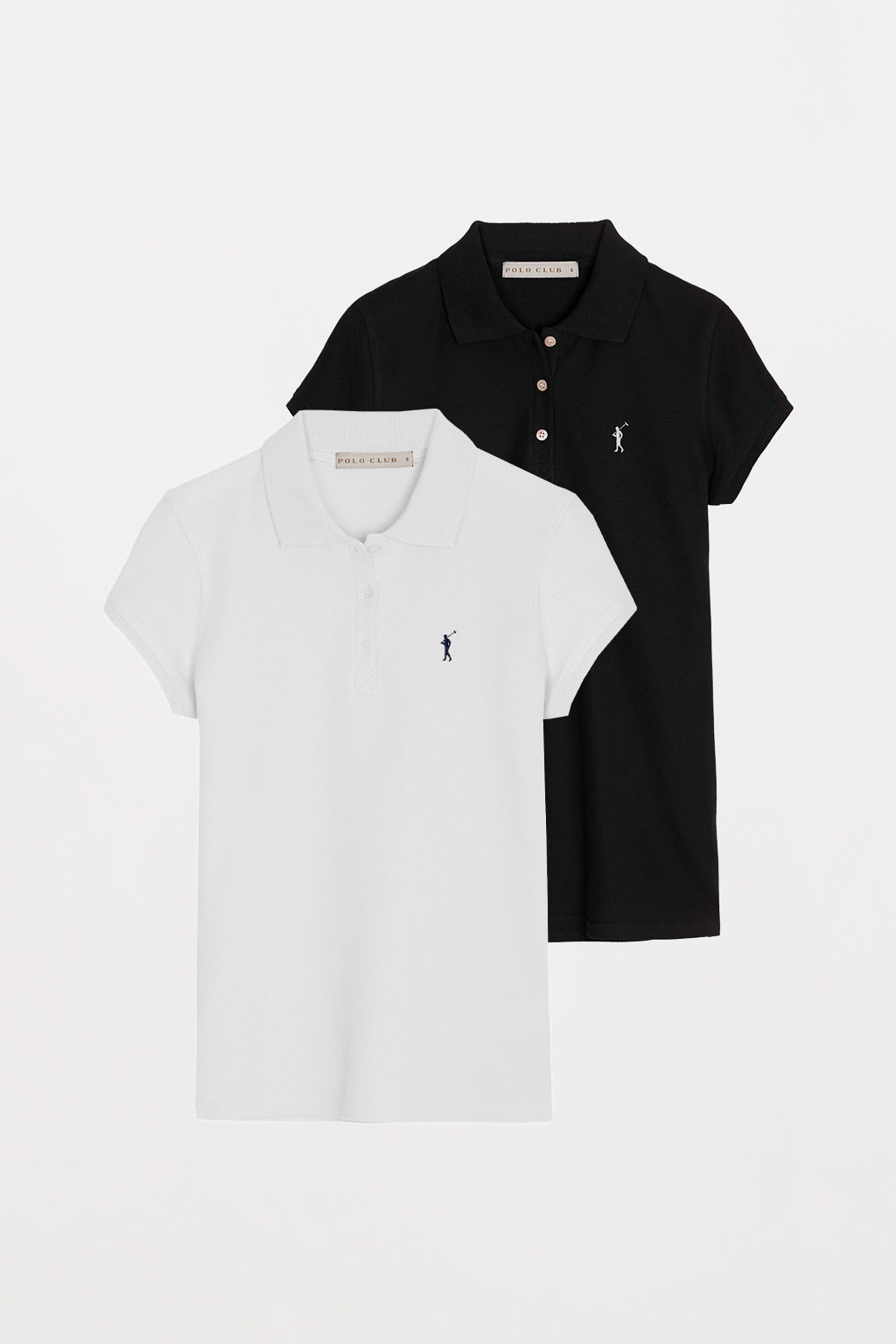 Polo shirt with embroidered logo 2 pack