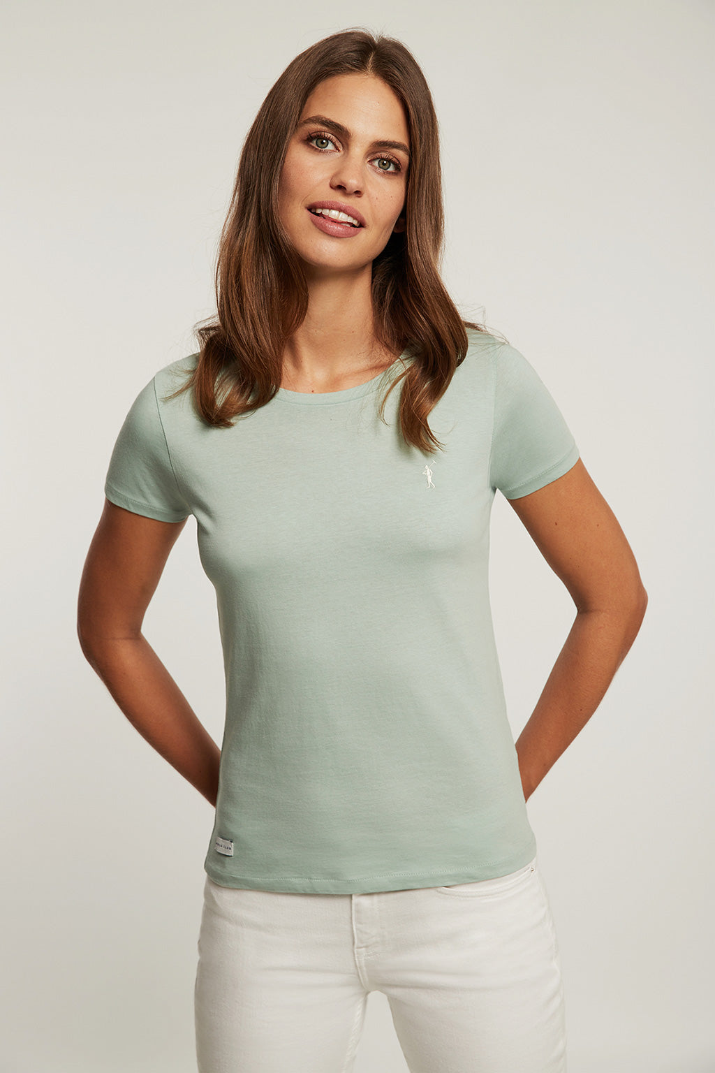Salvia green organic cotton tee