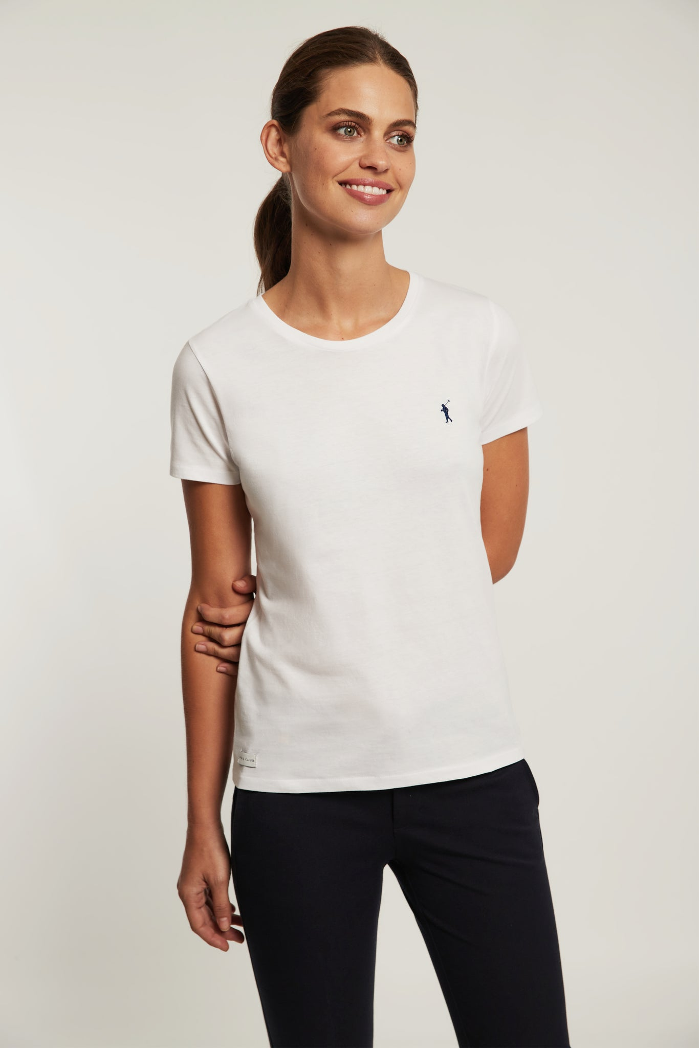 White organic cotton tee