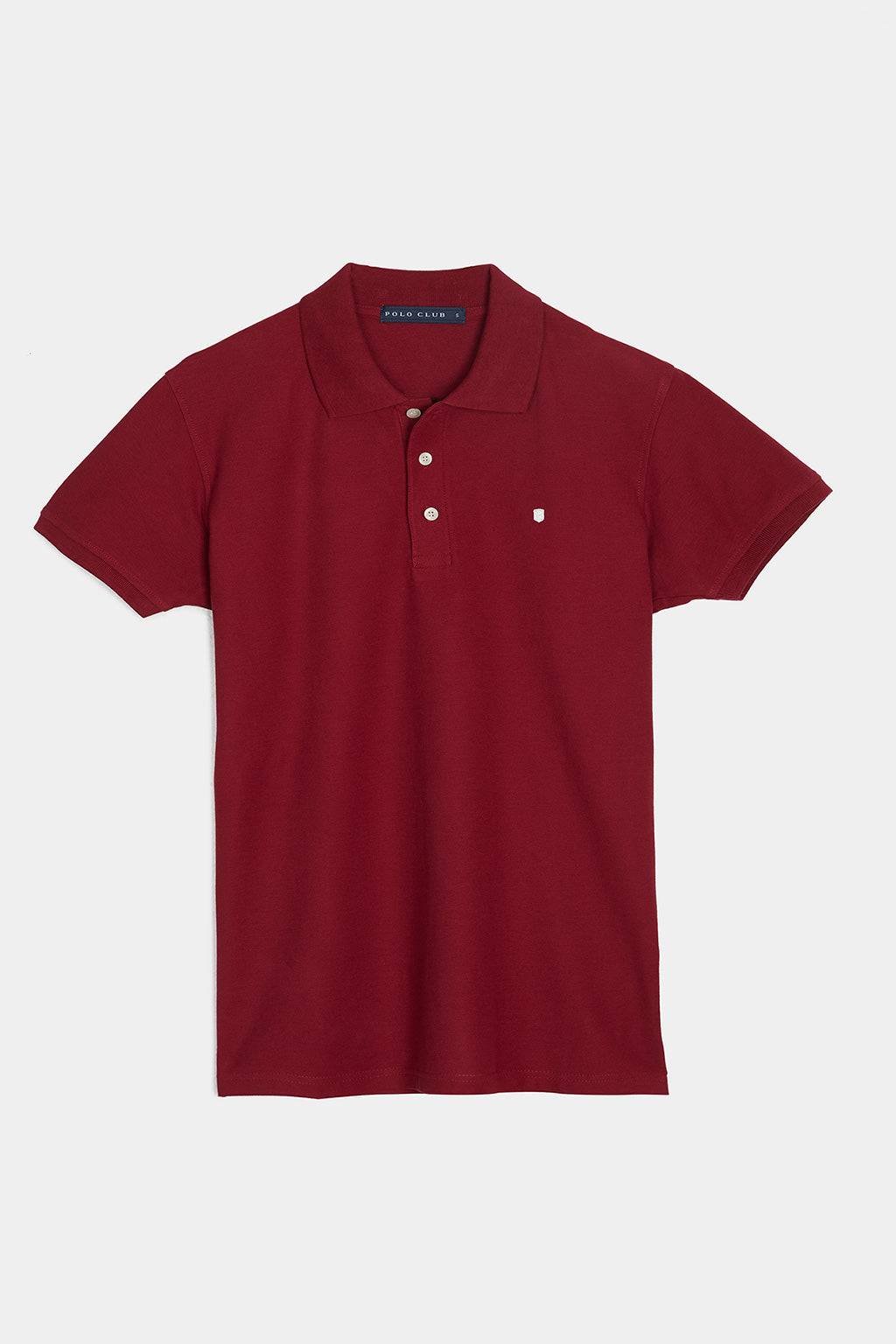 Polo shirt with small embroidered logo two pack