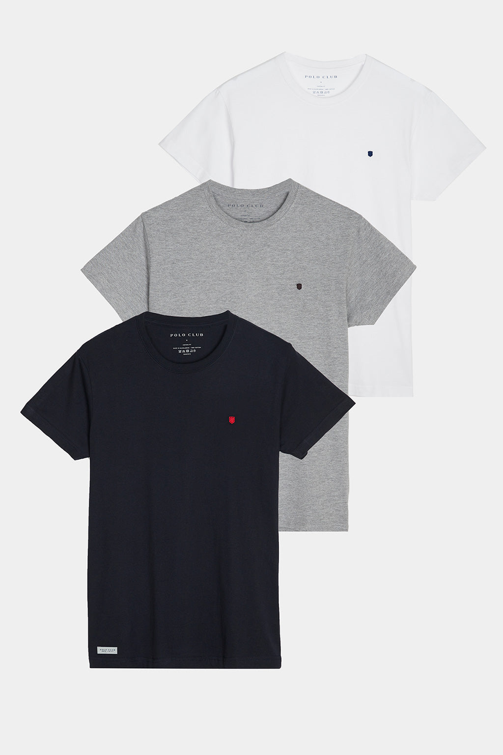 Basic tee with logo three pack