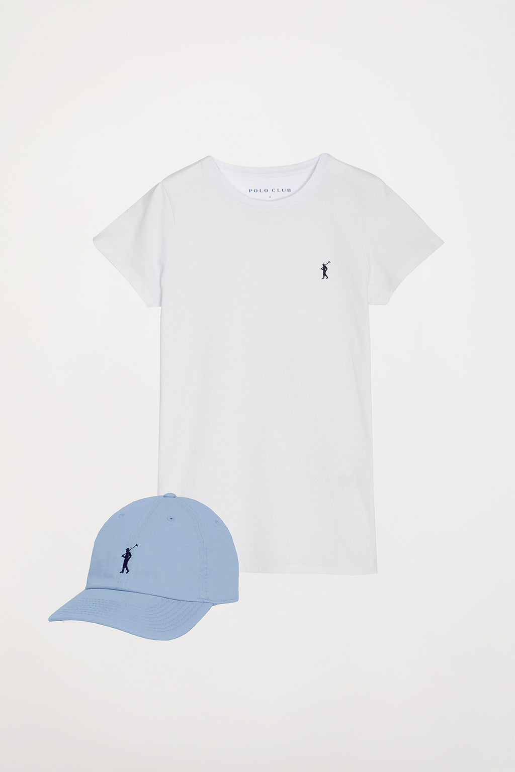 Tee and cap with embroidered logo pack