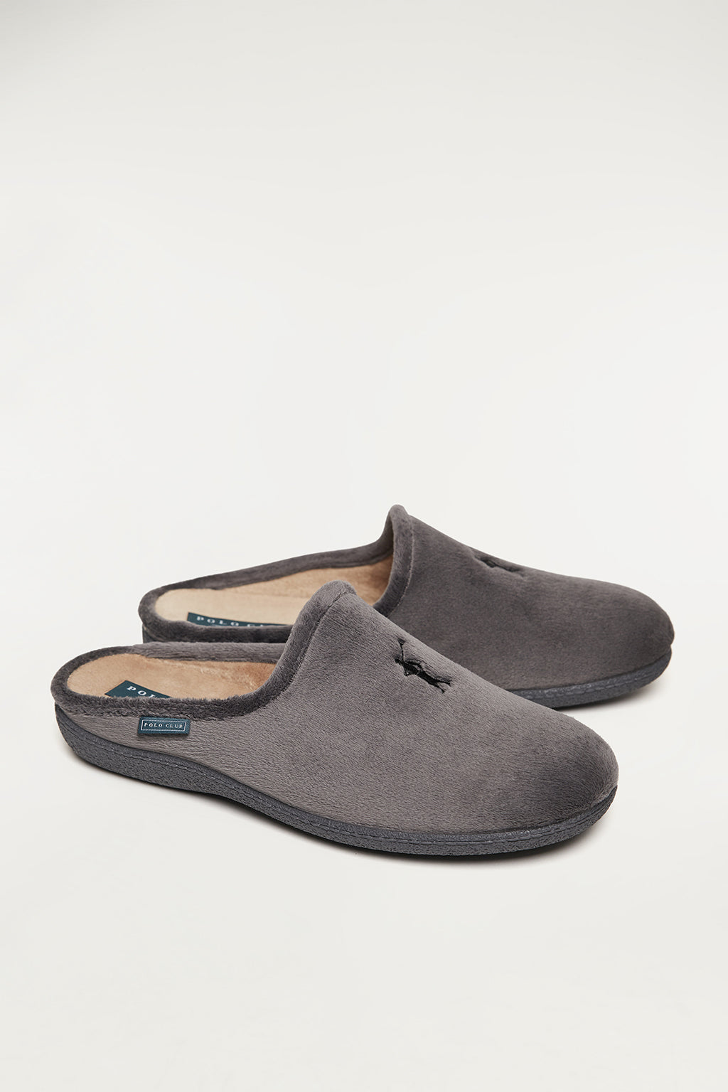 Grey sleepers with front embroidered logo in contrast colour