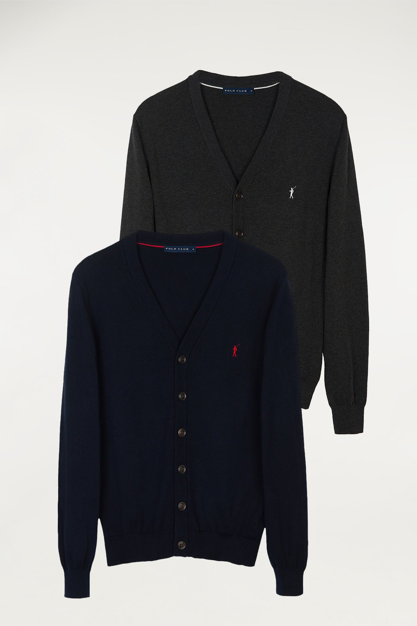 Cardigan two pack (navy blue and carbon grey)