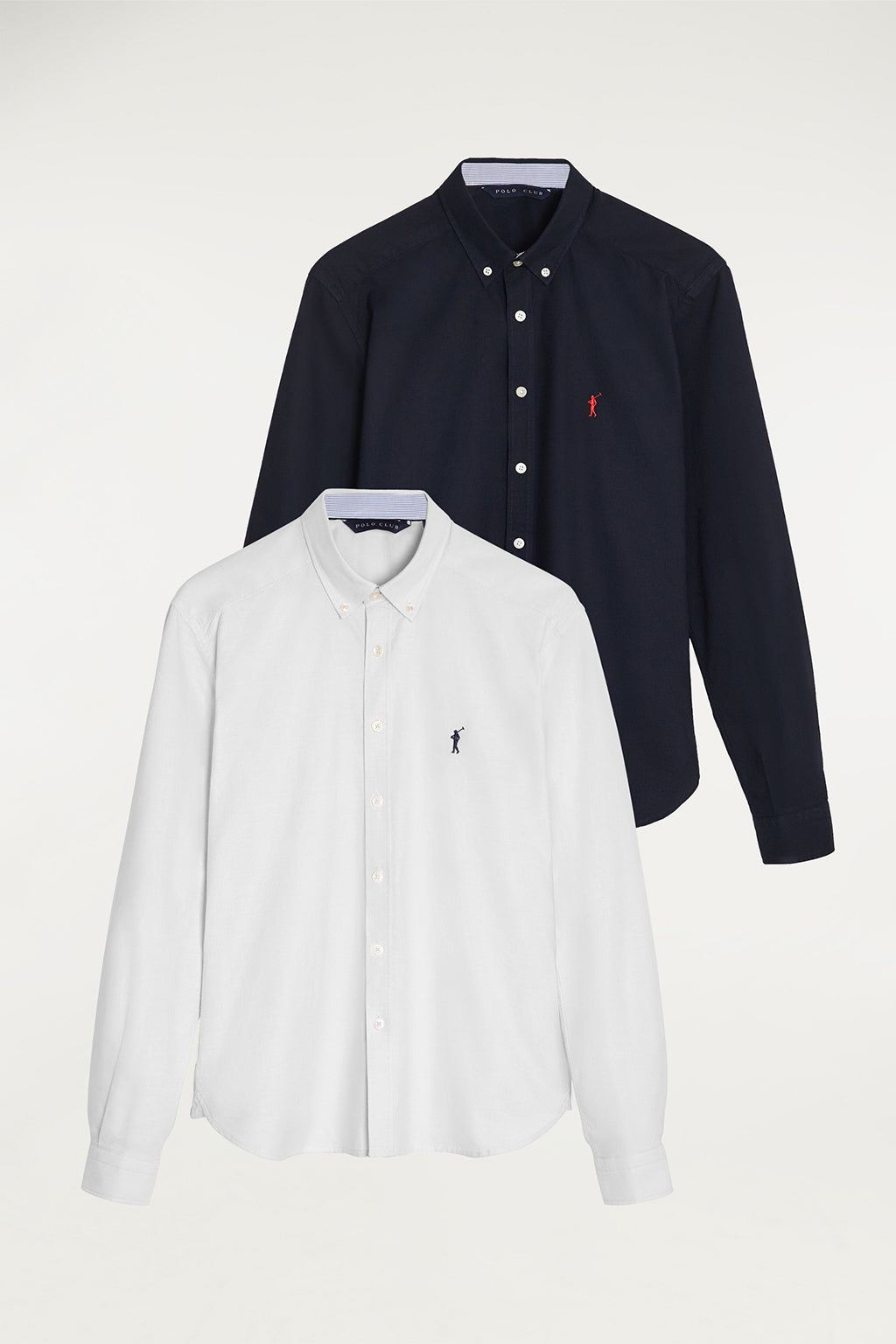 Oxford shirt two pack (white and navy blue)