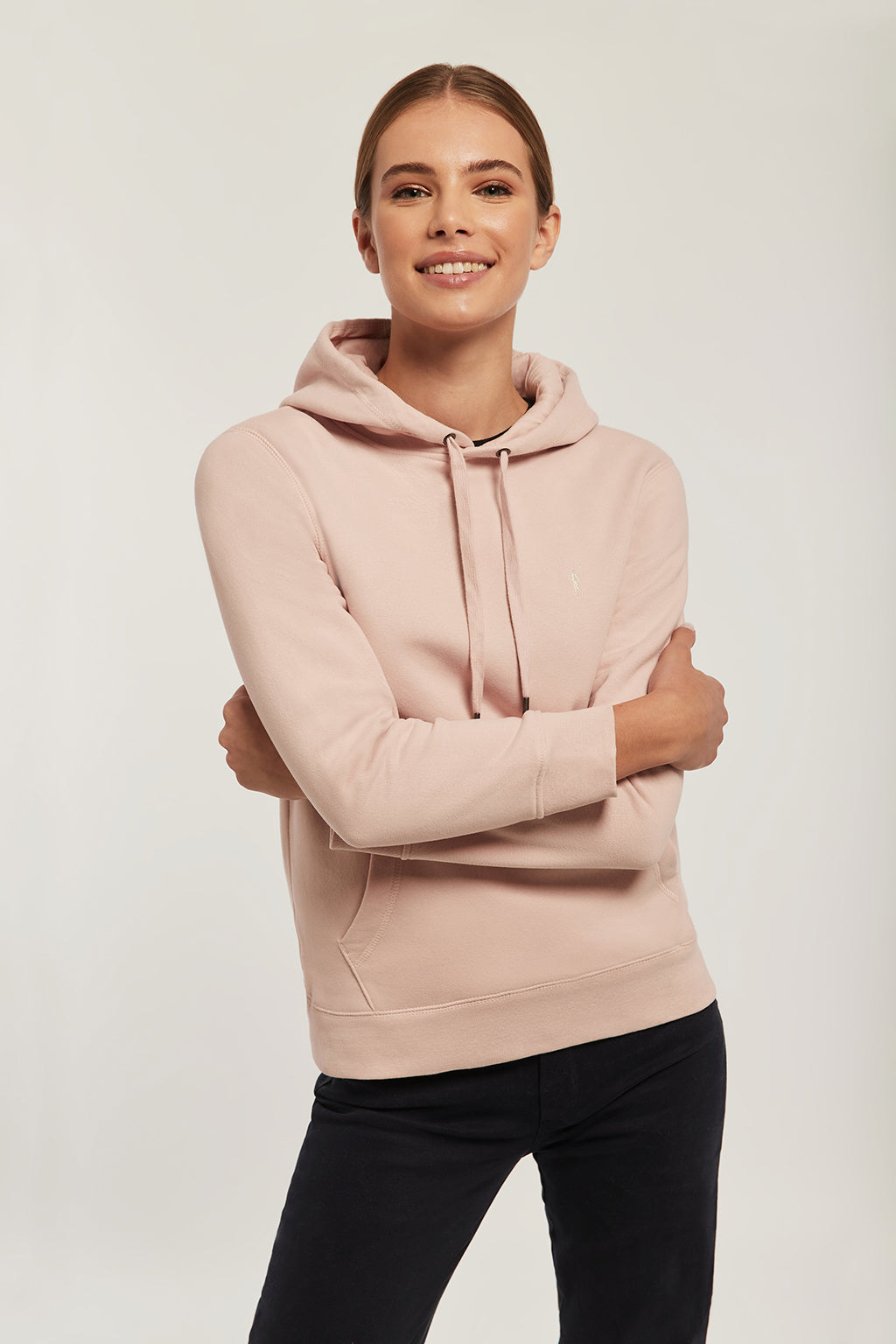 Pink sweatshirt with embroidered logo