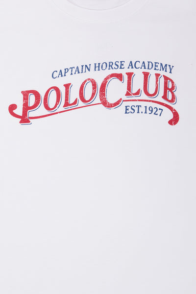 Polo Club Camiseta RETRO blanco CAMISETAS