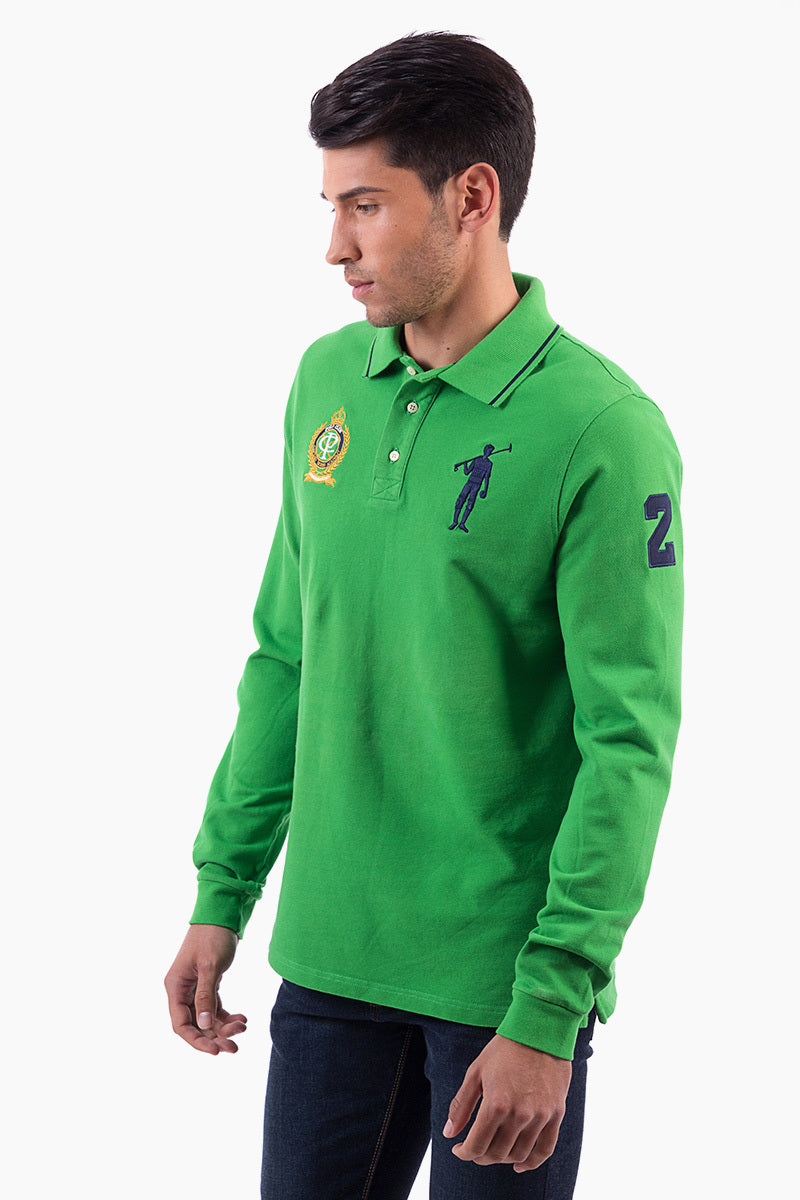 Polo Club Polo BIG PLAYER TEAM verde grass POLOS